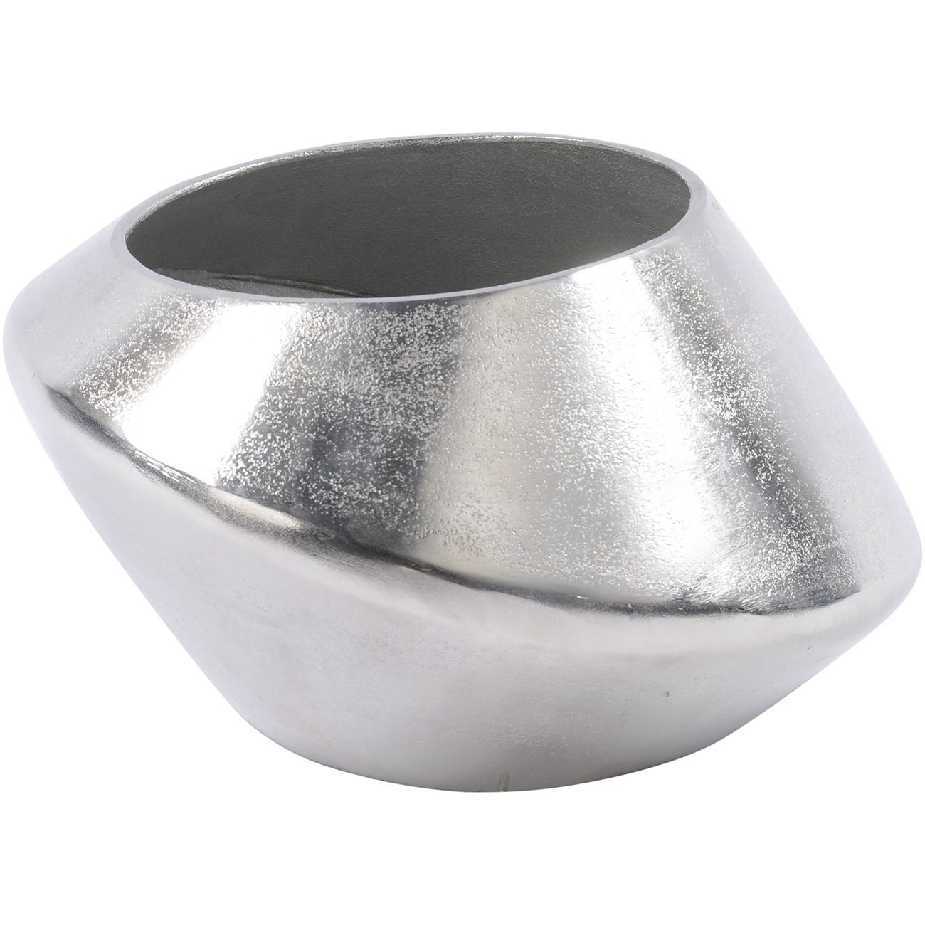 Silver Abstract Aluminium Vase Small thumbnail