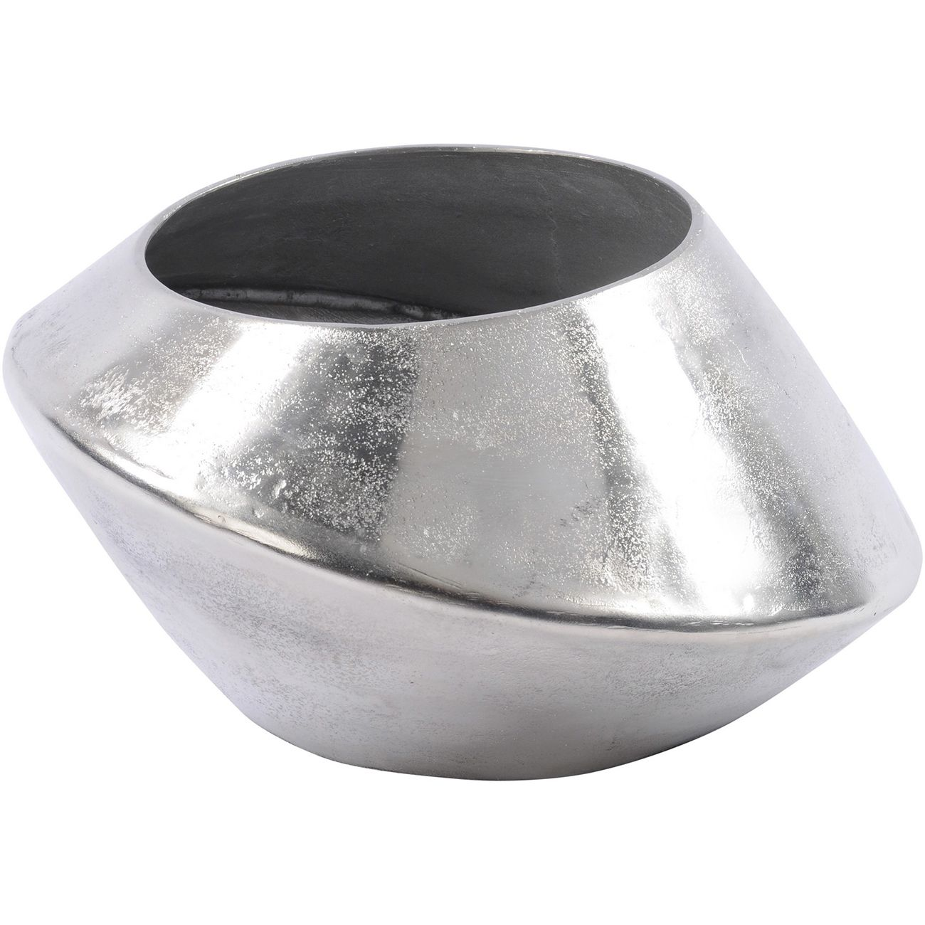 Silver Abstract Aluminium Vase Large thumbnail