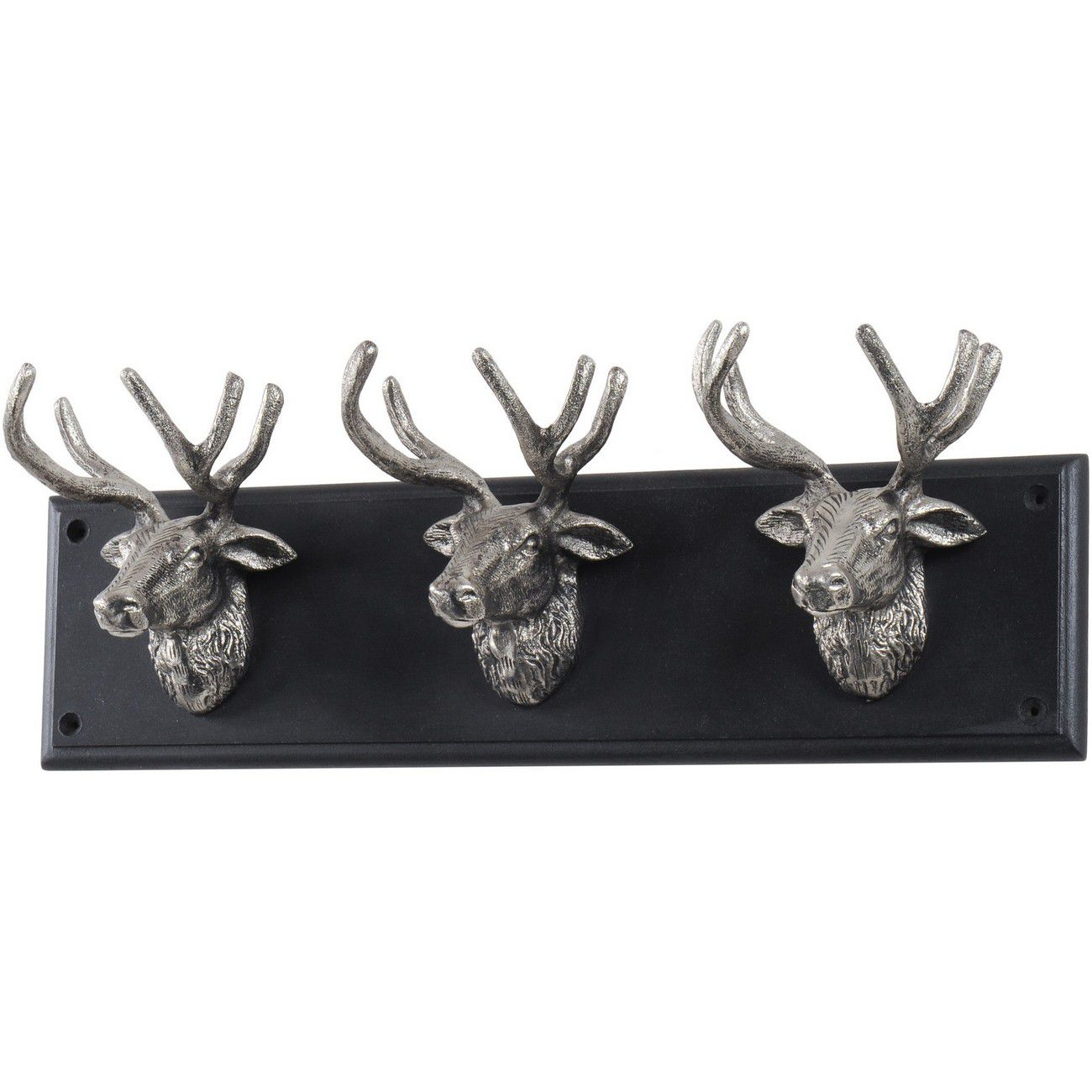 Buckden Silver Stag 3 Wall Hook thumbnail