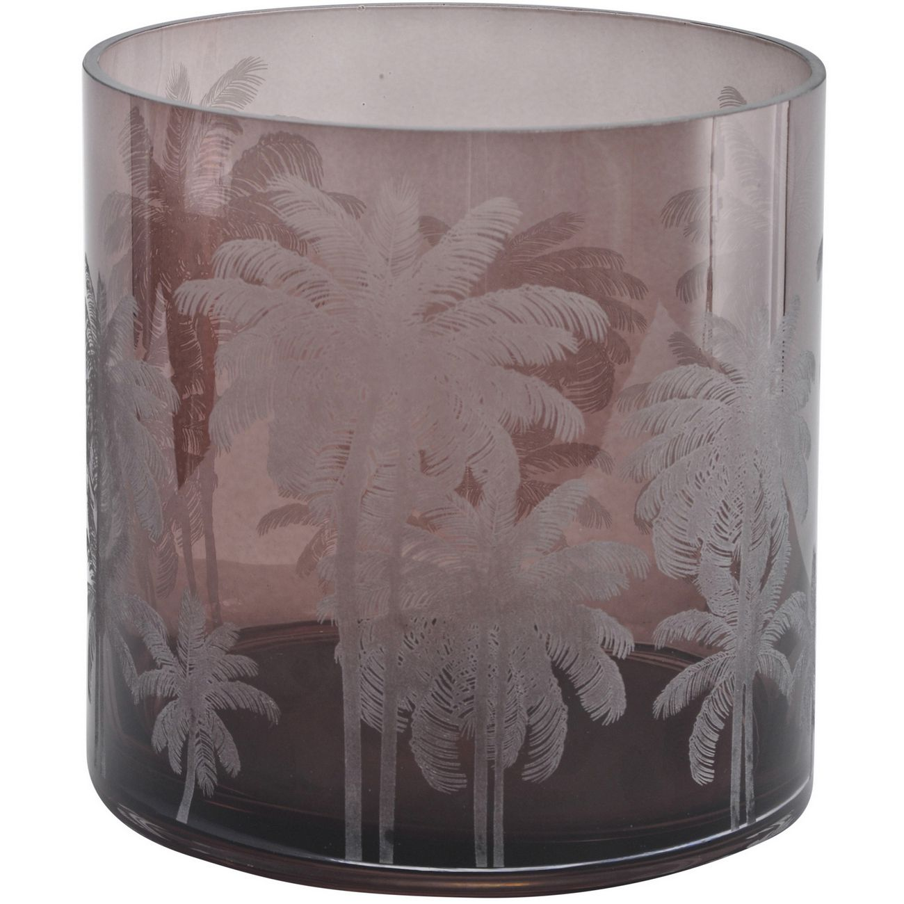Brown Palm Glass Hurricane thumbnail