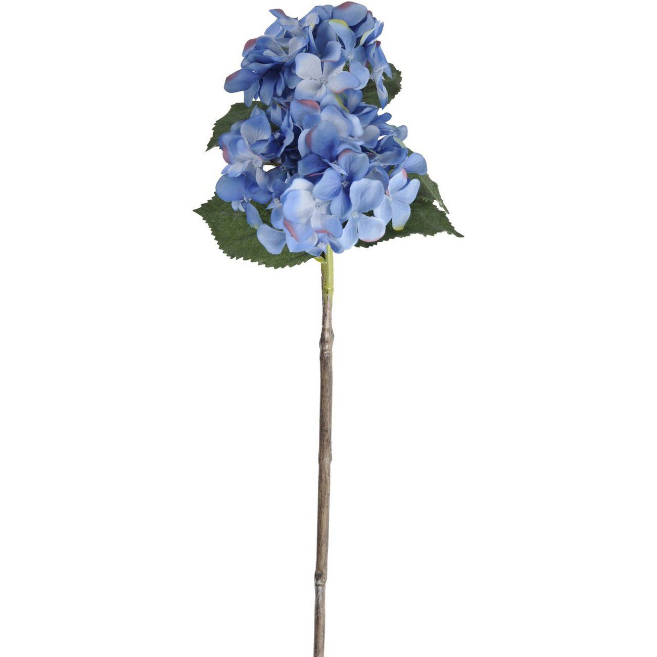Faux Blue Hydrangea With Leaves 71cm thumbnail