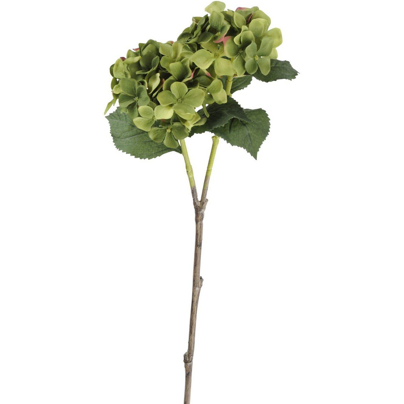 Faux Green Hydrangea With Leaves 71cm thumbnail