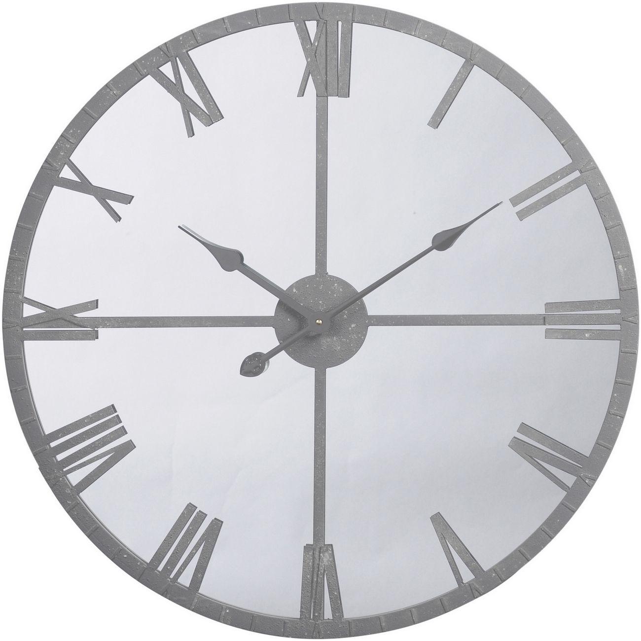 Grey Framed Mirrored Wall Clock thumbnail