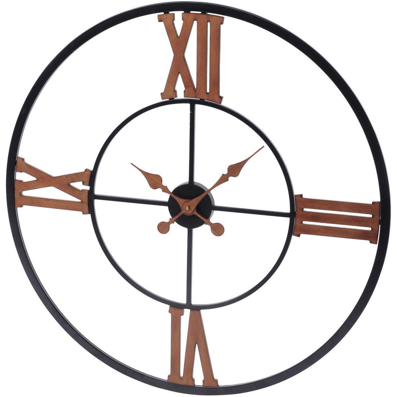 Black And Copper Iron Wall Clock thumbnail