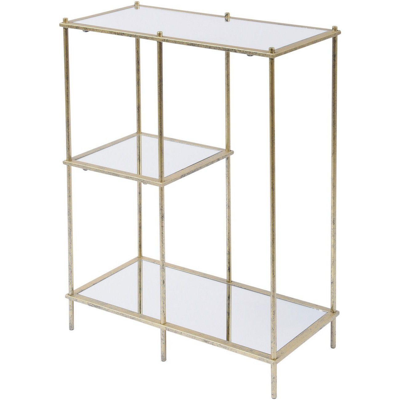 Mylas Modular Shelving Unit With Mirrored Panels thumbnail