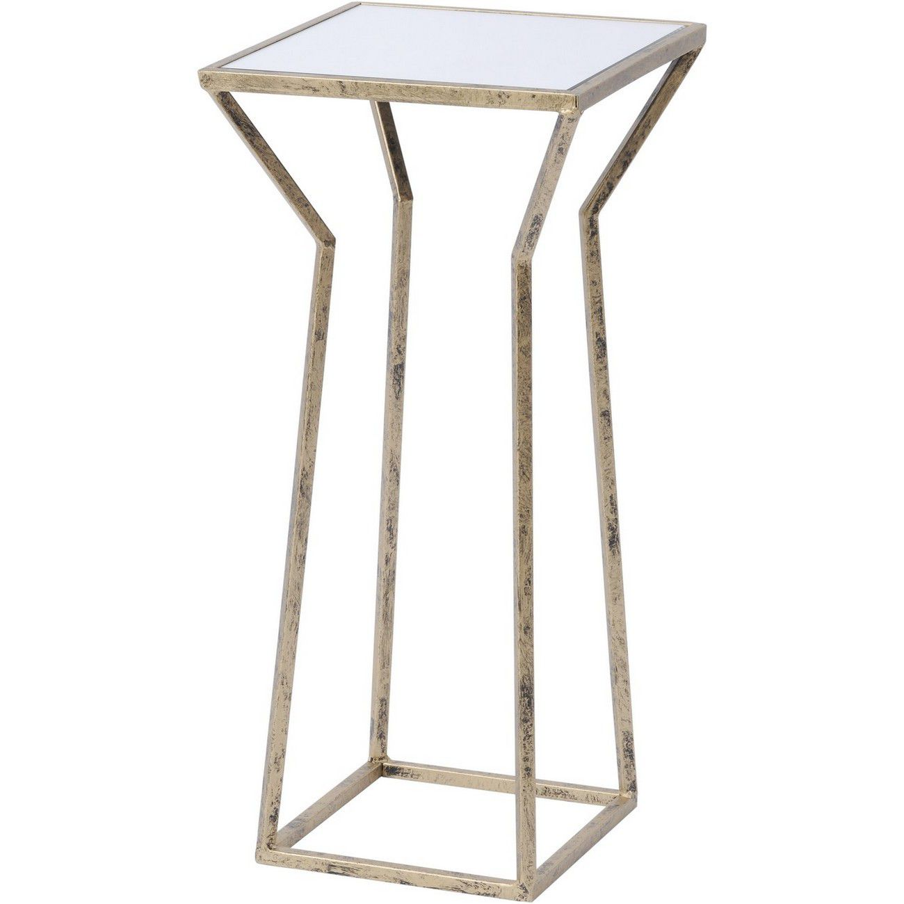 Mylas Small Square Side Table With Mirrored Top thumbnail