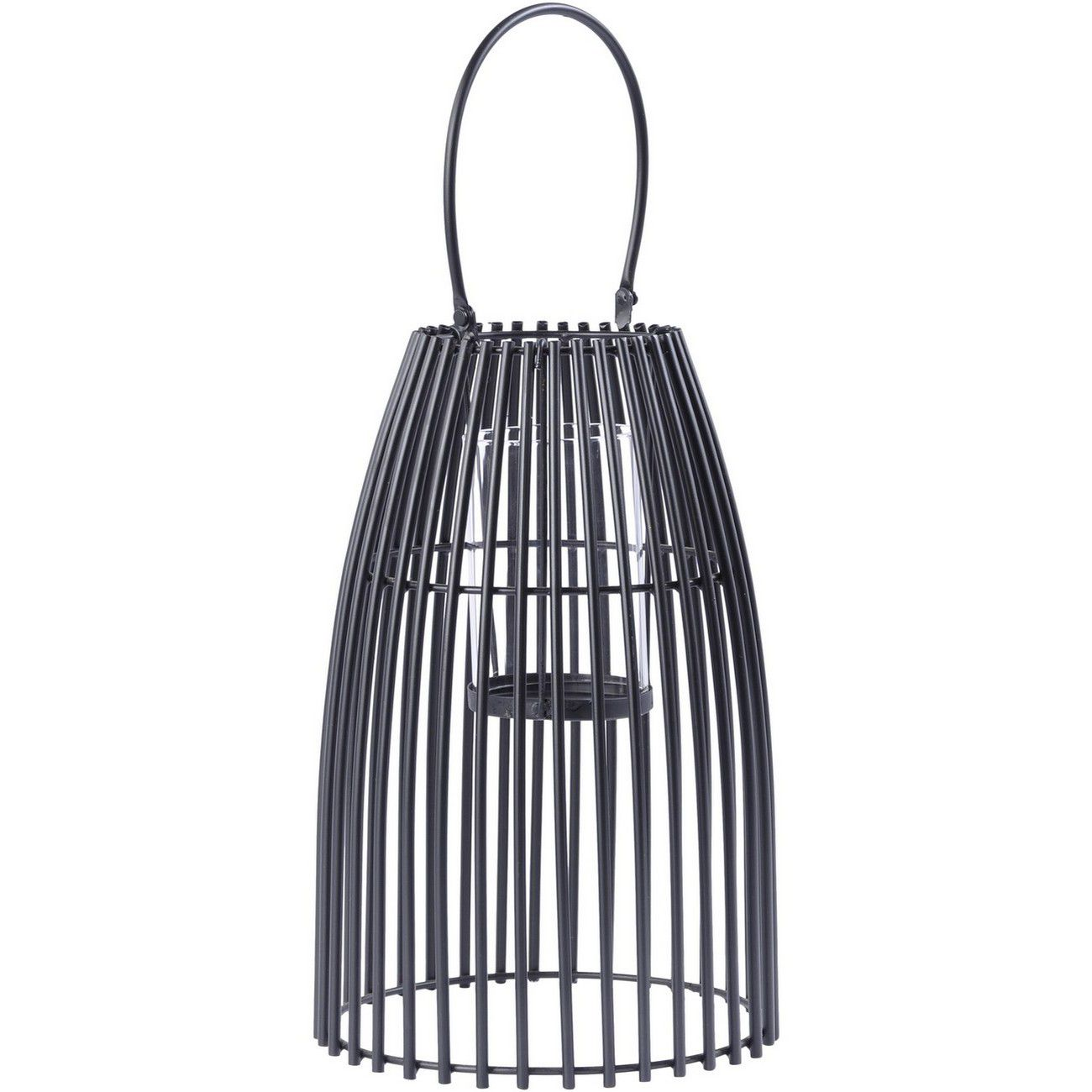 Black Iron Strip Lantern Large with Bracket thumbnail