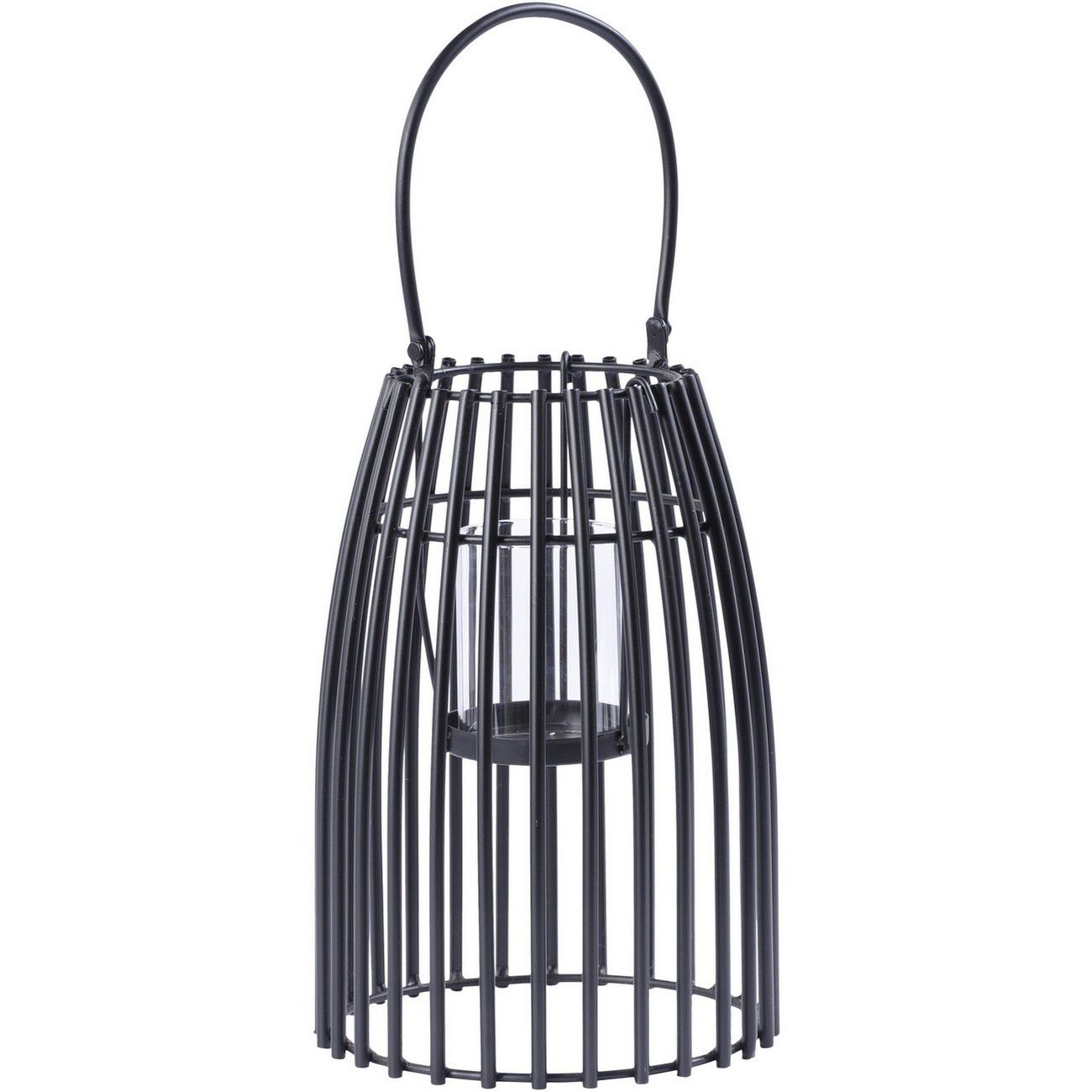 Black Iron Strip Lantern Small with Bracket thumbnail