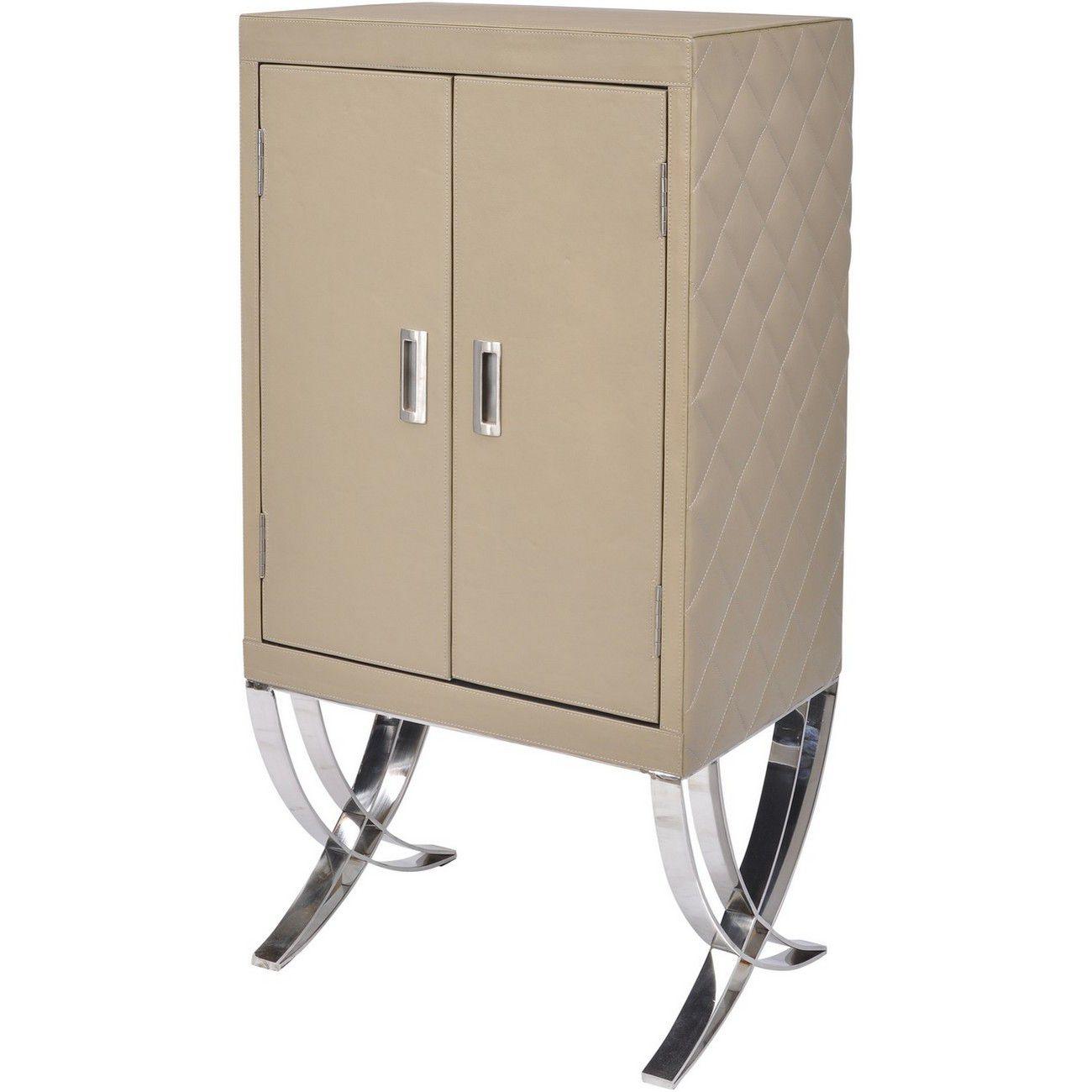 Ecclestone Leather Bar Cabinet thumbnail