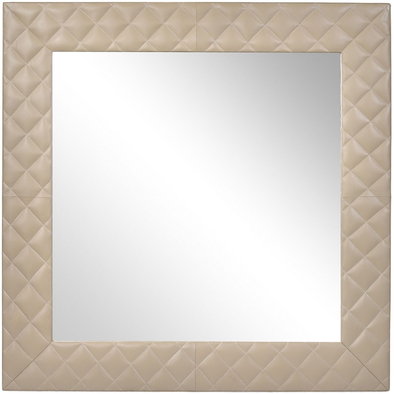 Ecclestone Leather Square Wall Mirror thumbnail