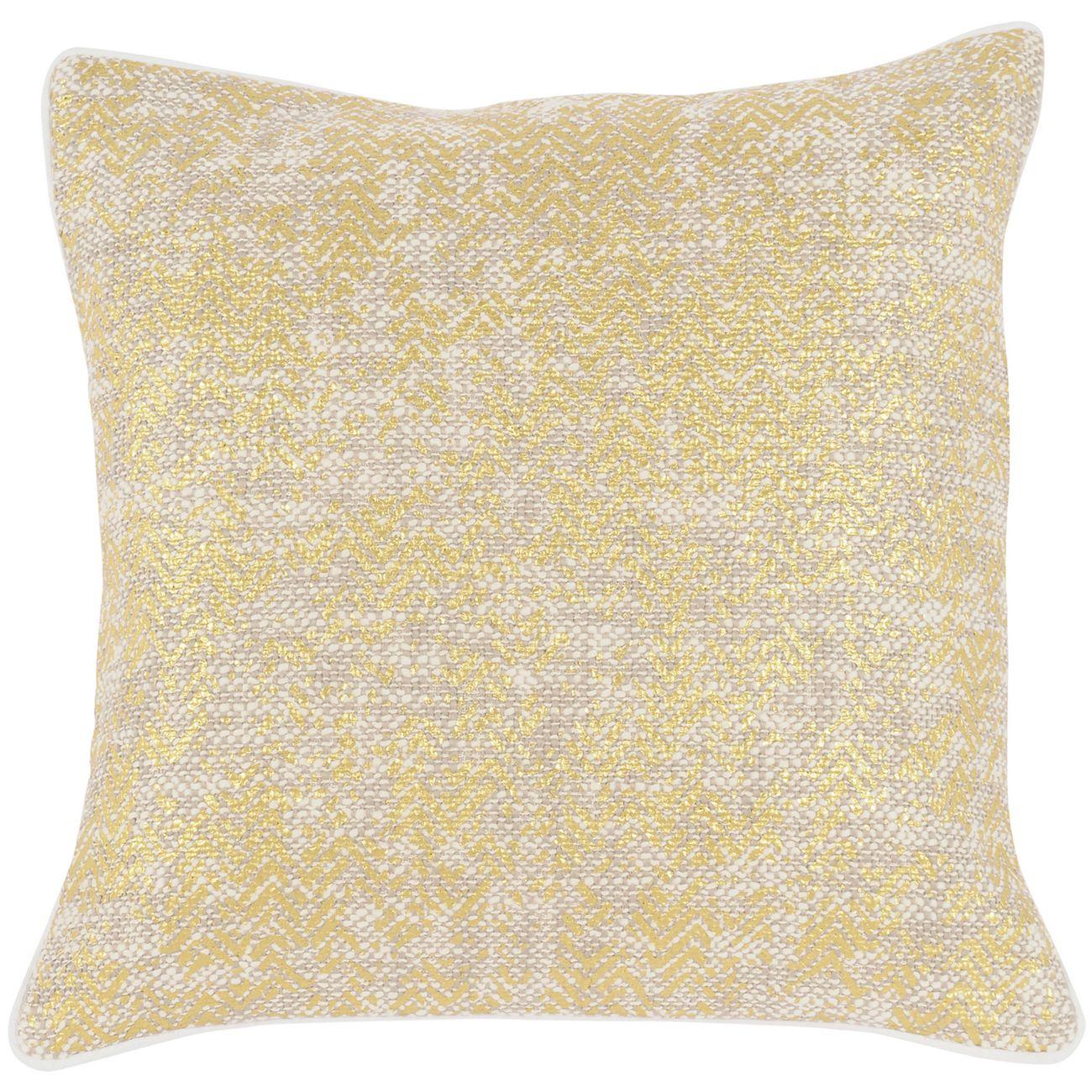 Metallic Gold Cushion 45x45cm thumbnail
