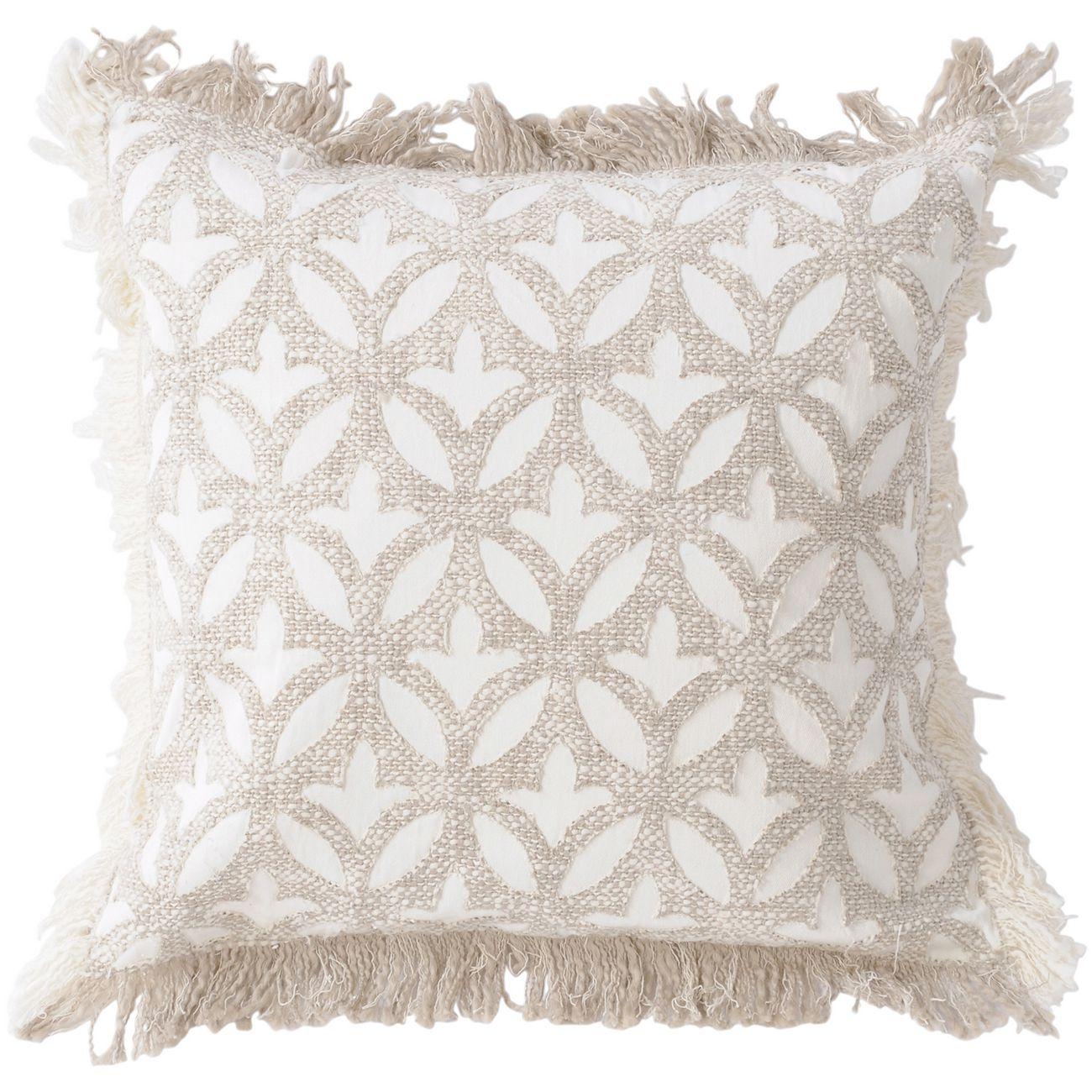Ajmer Applique Ivory Cushion 45x45cm thumbnail
