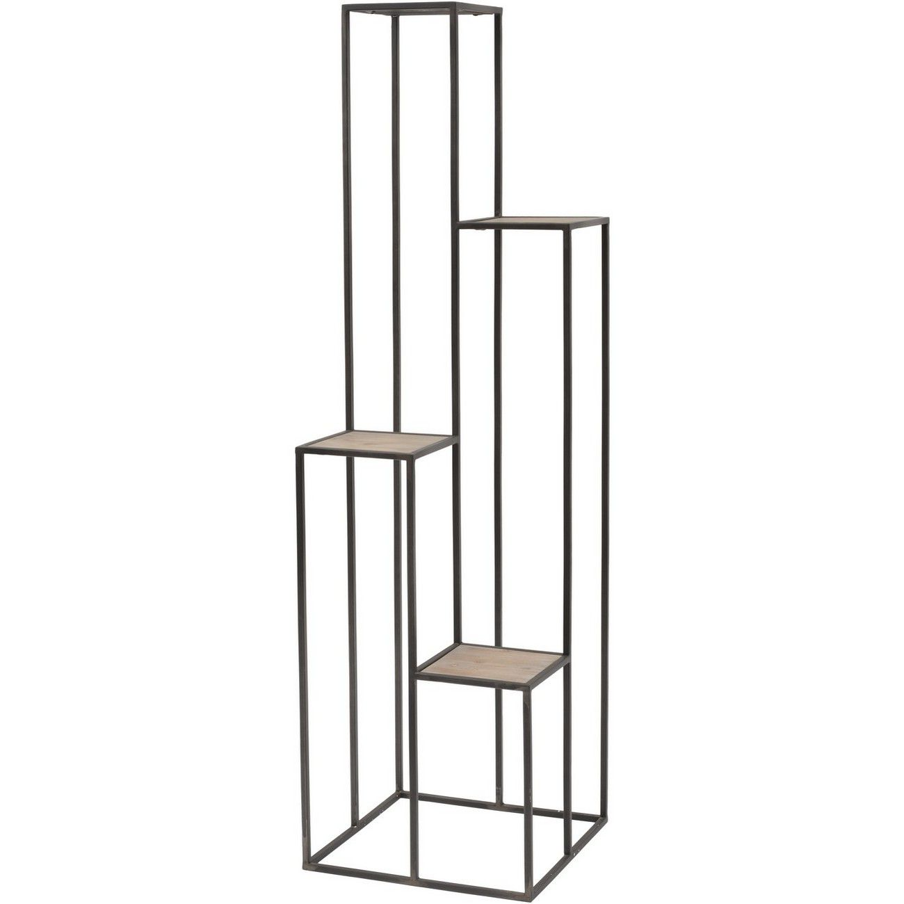 4 Tier Black Iron Corner Shelf thumbnail