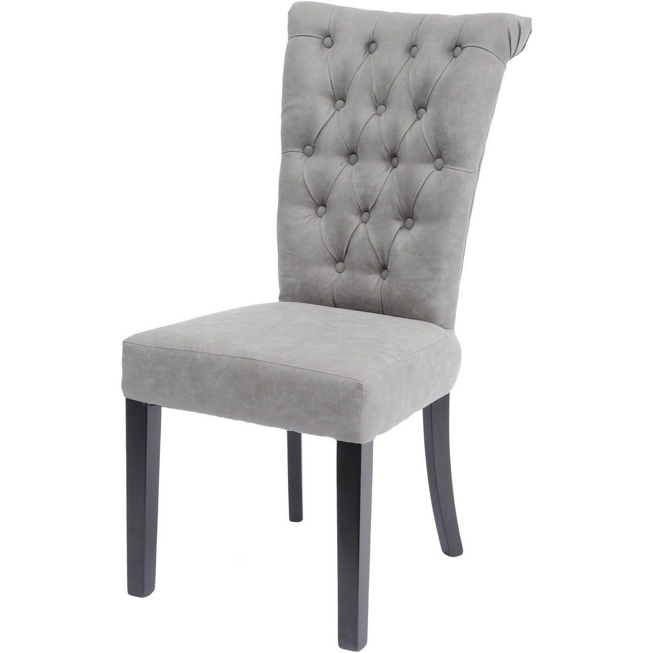 Jansen Light Grey Buttonback Dining Chair thumbnail