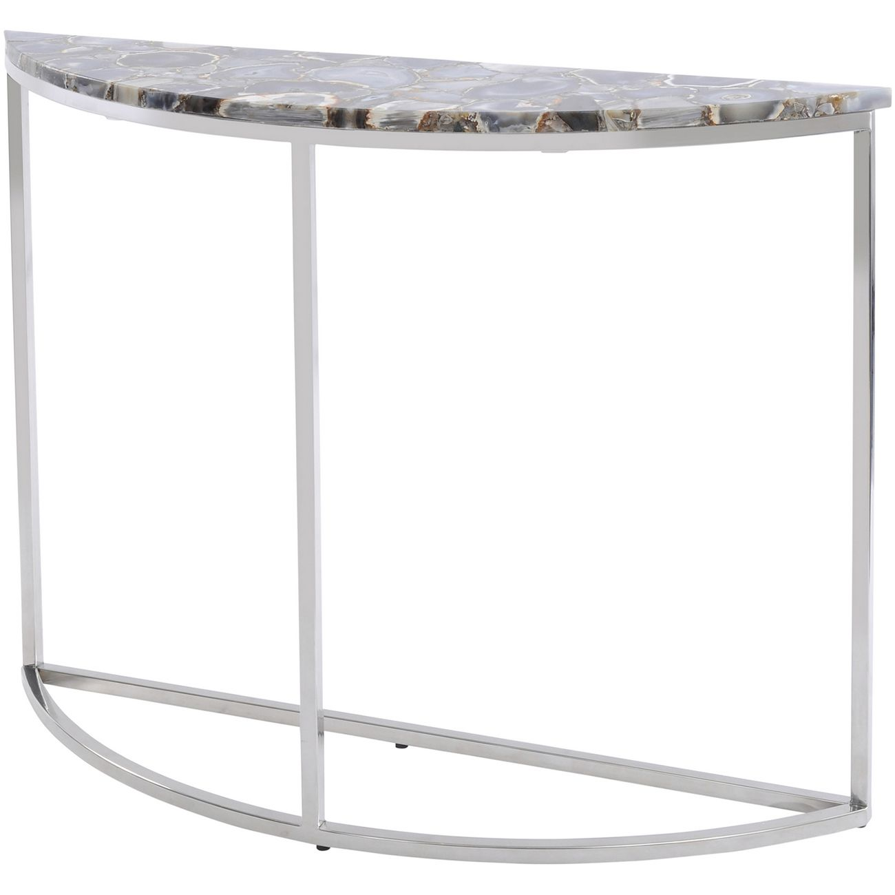 Agate Crescent Console Table On Nickel Frame thumbnail