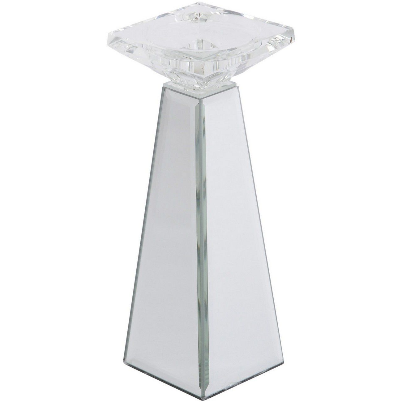 Blakely Tapered Mirrored Candle Holder thumbnail