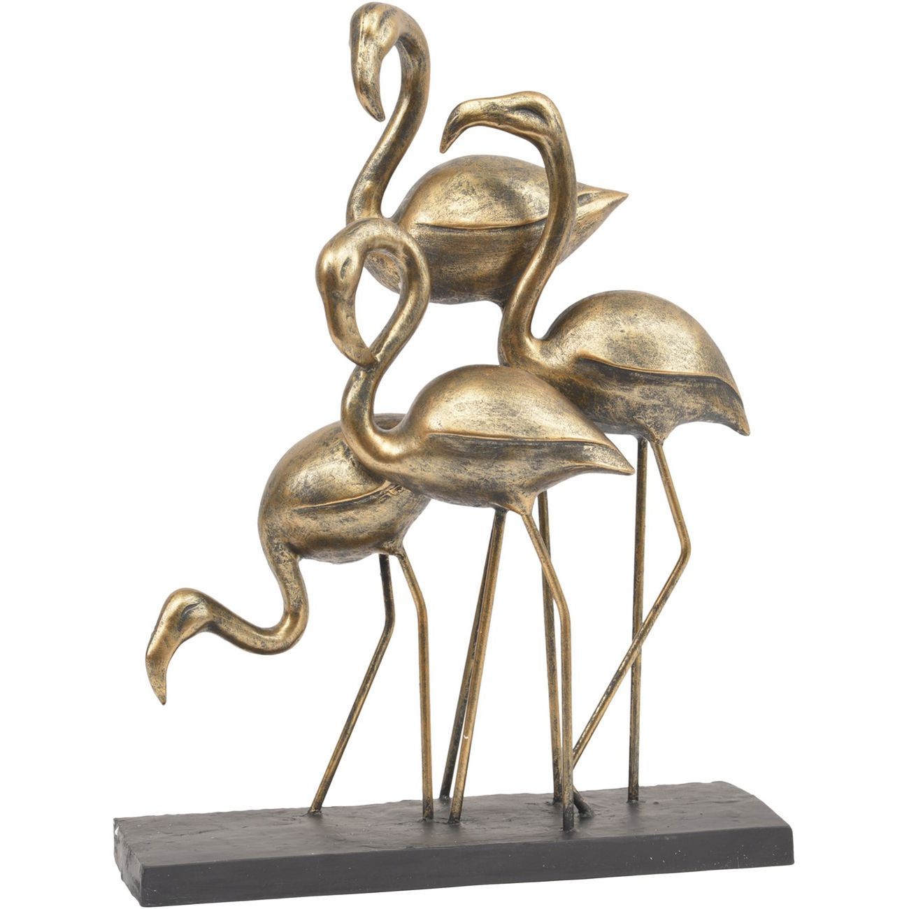 Antique Bronze Group Of Flamingoes thumbnail