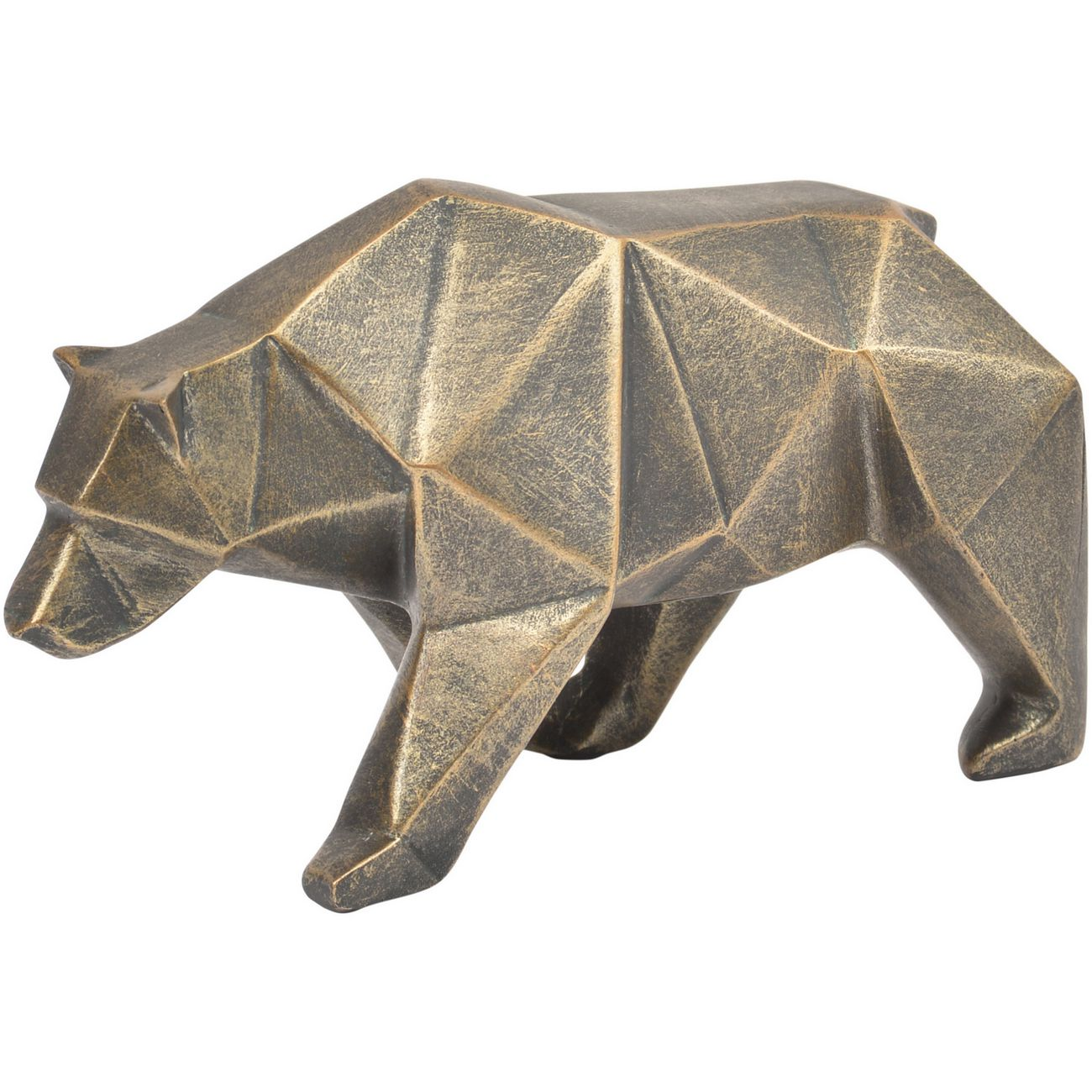 Antique Bronze Abstract Bear Sculpture thumbnail