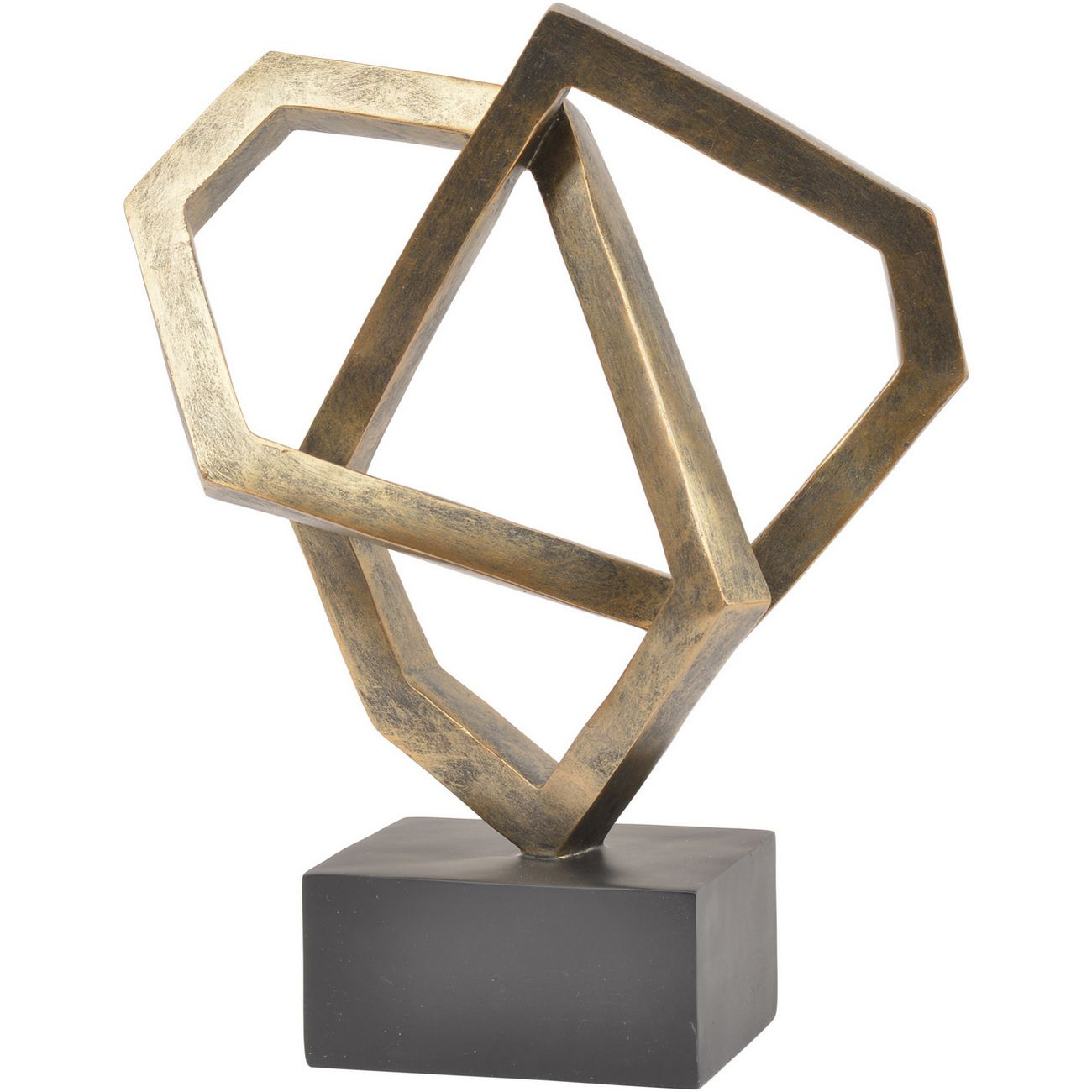 Antique Bronze Cubist Sculpture thumbnail