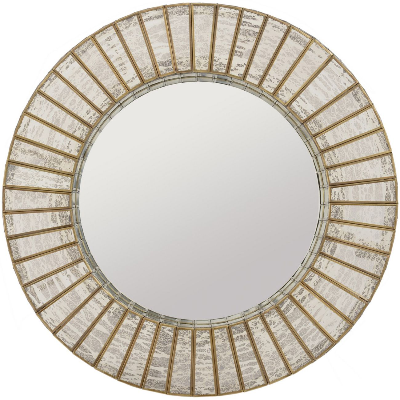 Aurora Antique Silver & Gold Mercury Glass Round Mirror thumbnail
