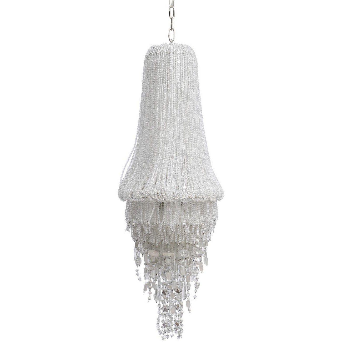 Limegrove White Glass & Nickel Chandelier G9 40W 2 thumbnail