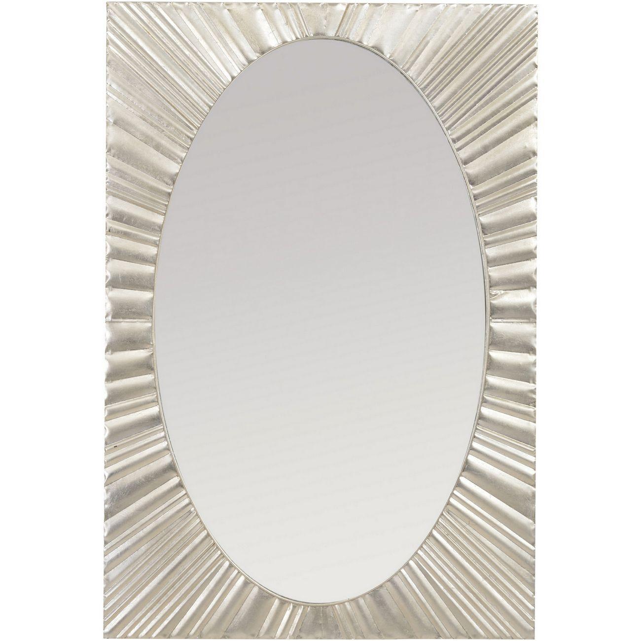 Silver Starburst Rectangular Iron Mirror thumbnail
