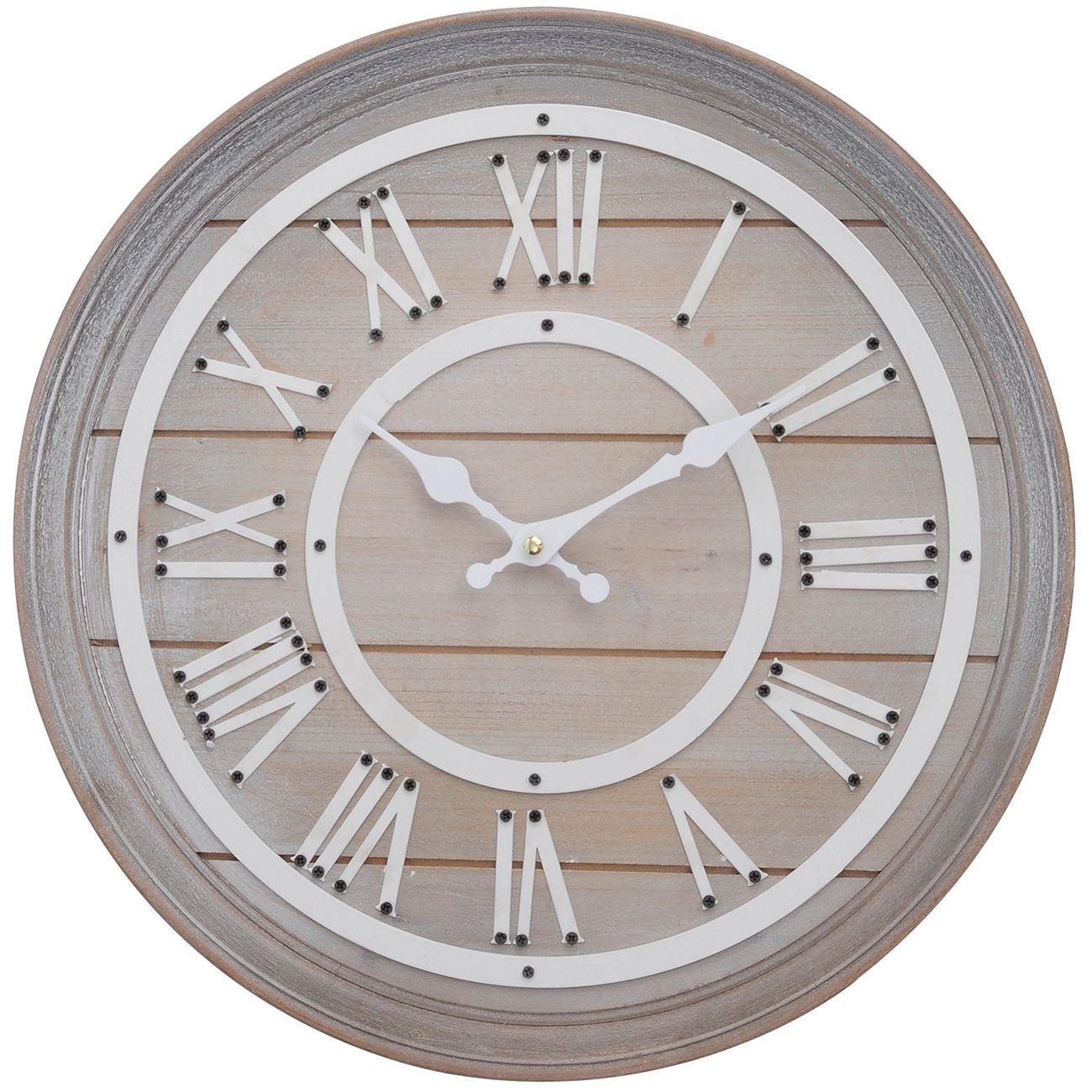 Hemsby Bleach Wooden Wall Clock Small thumbnail
