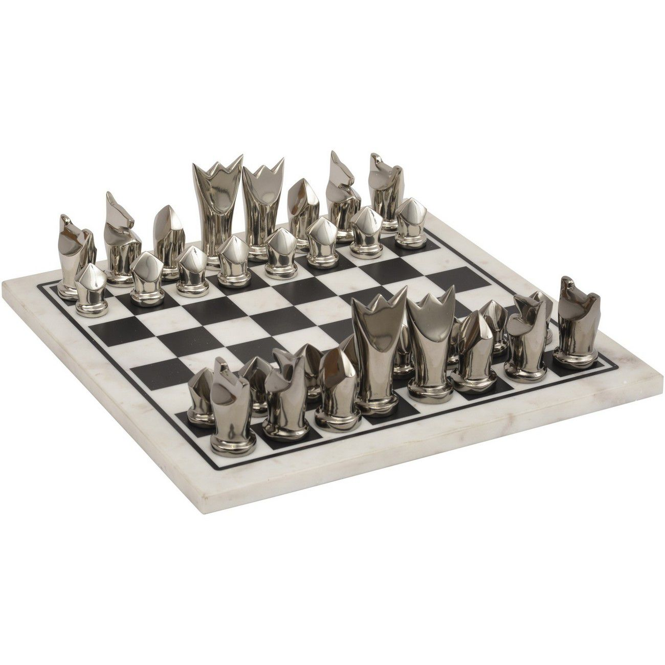 Black & White Marble Chess Set thumbnail