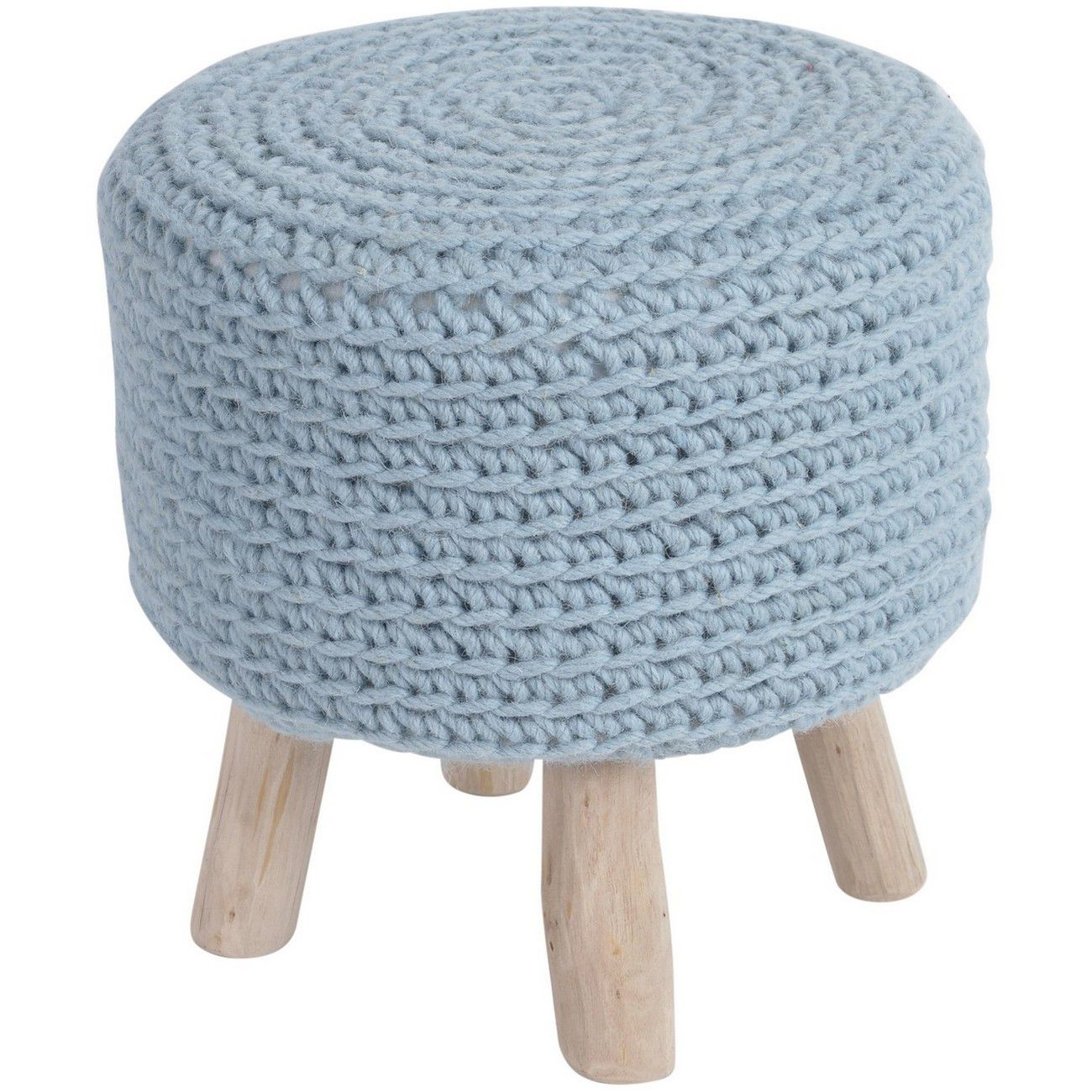 Nomad Blue Knitted Stool thumbnail