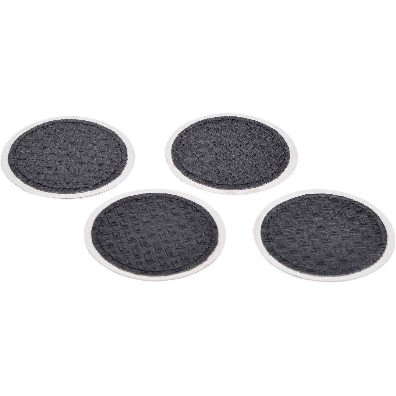 Benton Black Leather Set Of 4 Coasters thumbnail
