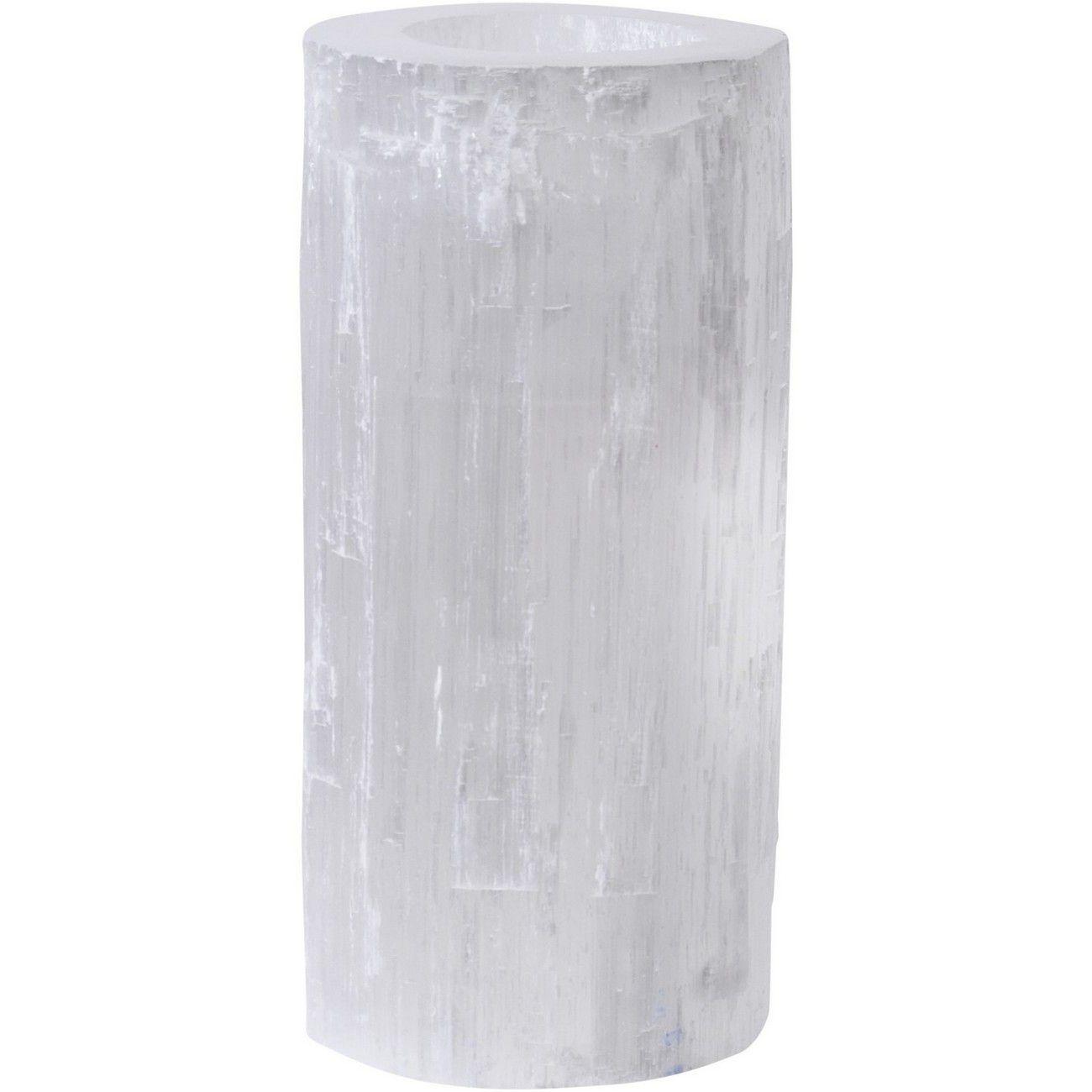 Jan Promo - Natural Selenite Tealight Holder Large thumbnail