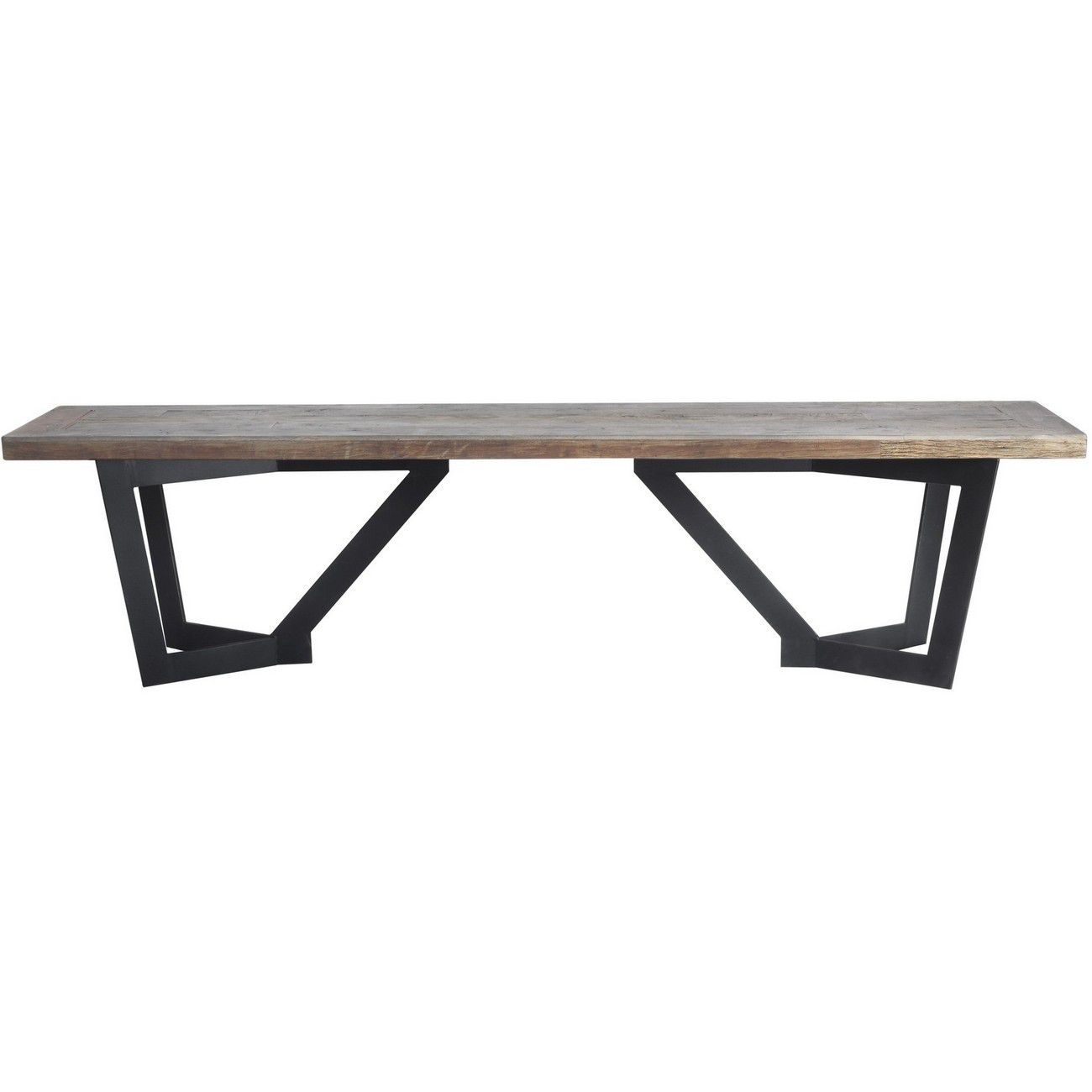 Glenmore Recycled Elm And Iron Rectangular Bench thumbnail