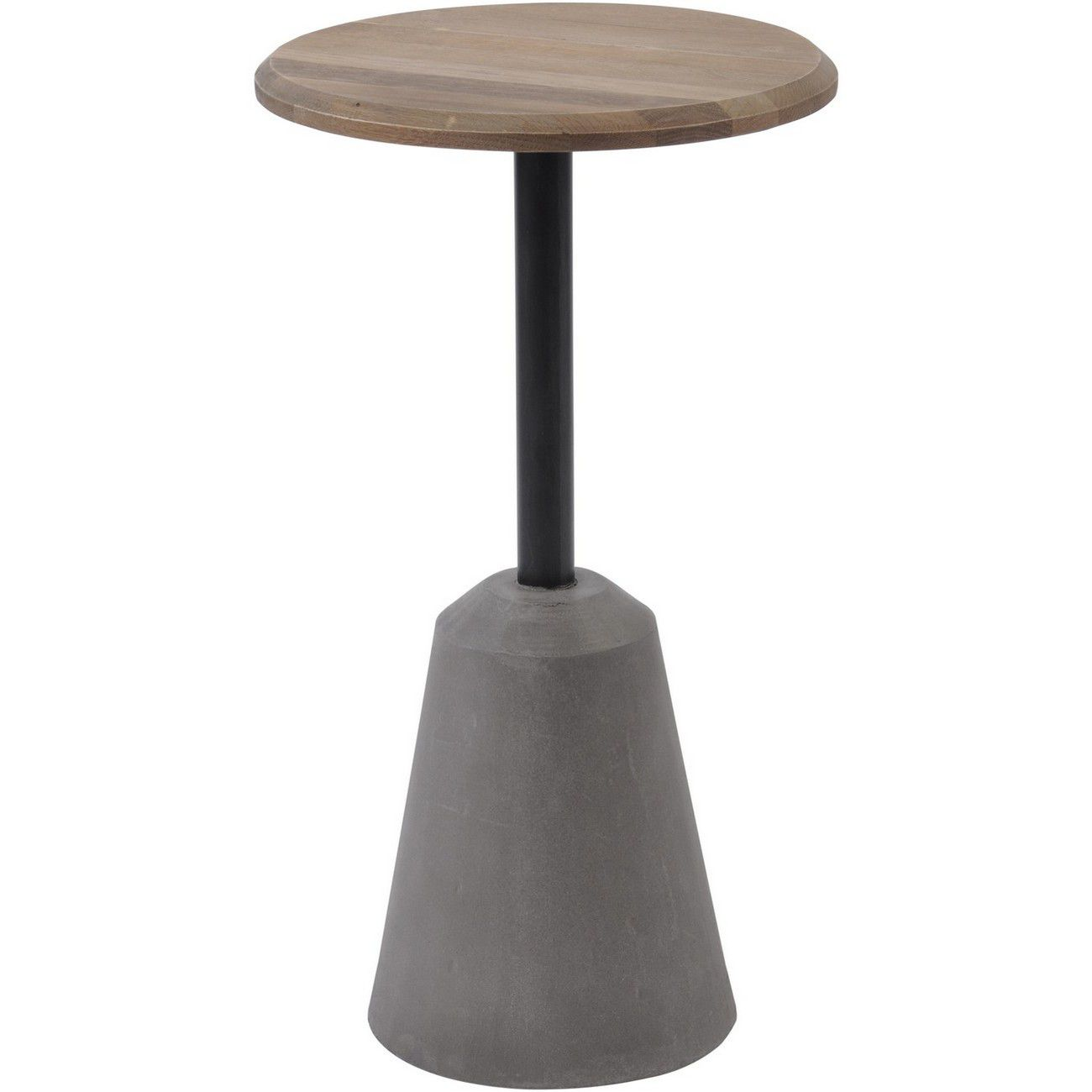 Belmore Oak And Concrete Side Table thumbnail