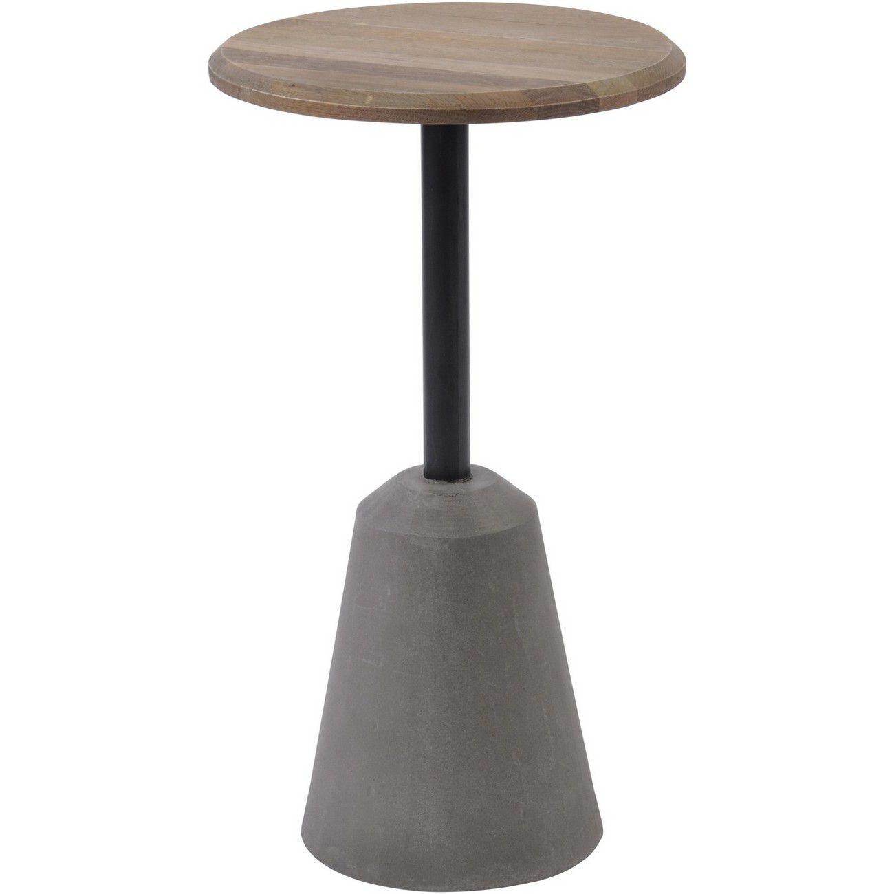Belmore Oak And Concrete Side Table thumbnail