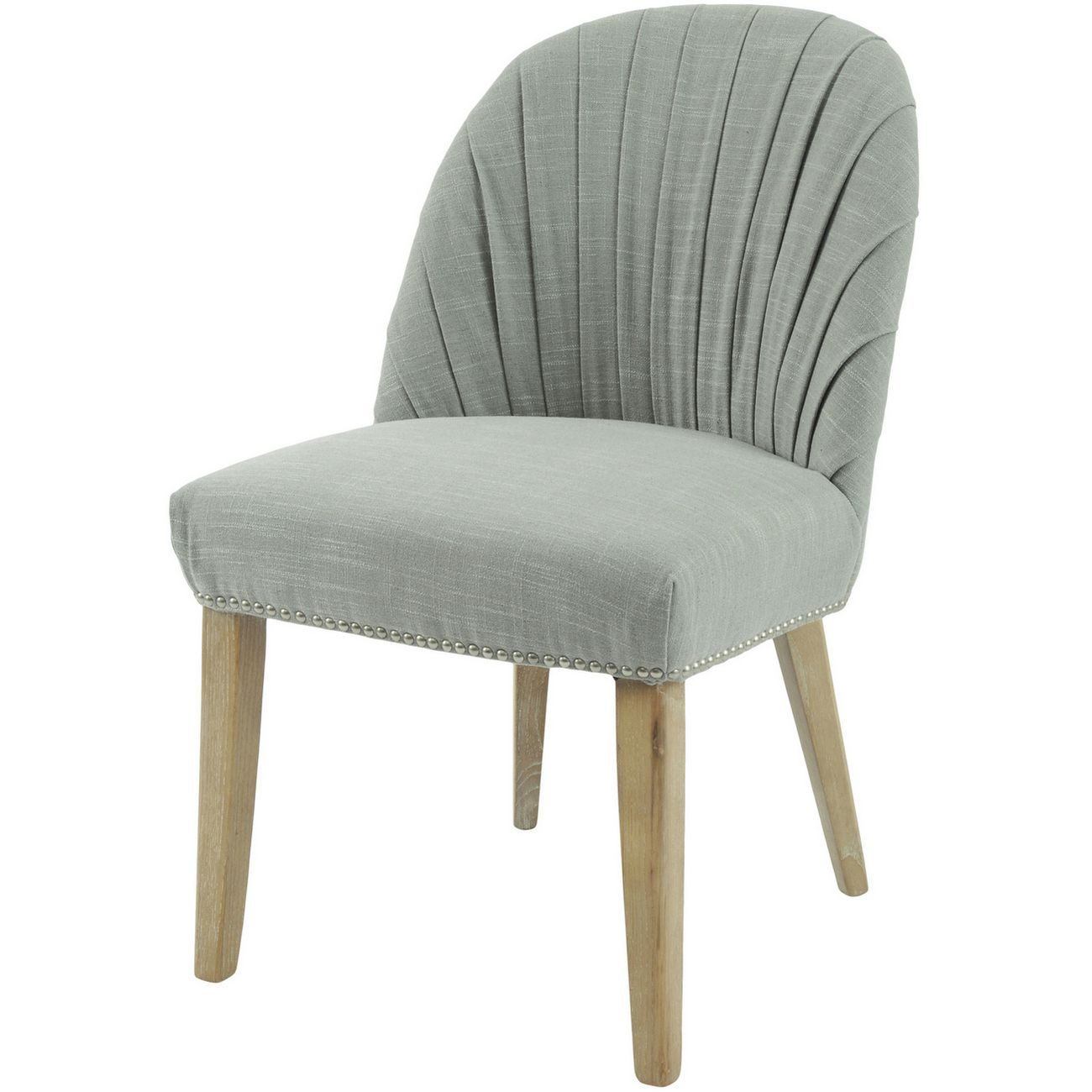 Tenby Grey Pleated Linen Blend Dining Chair thumbnail