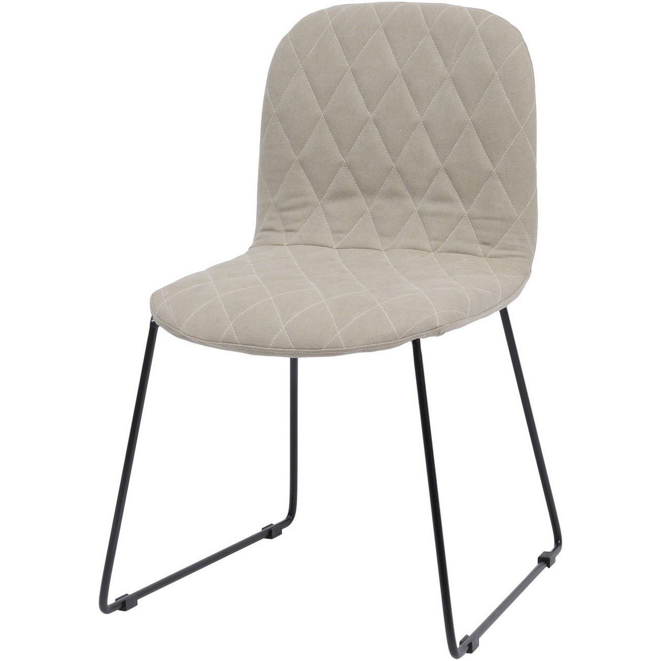 Clifton Cream Quilted Dining Chair thumbnail
