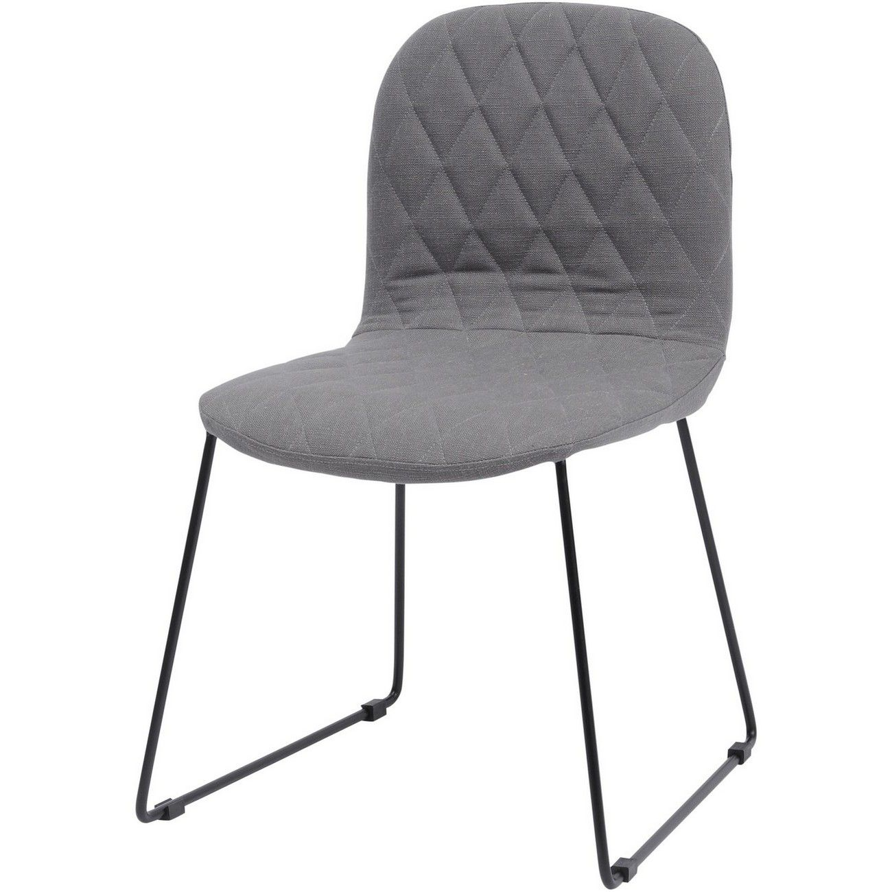 Clifton Grey Quilted Dining Chair thumbnail