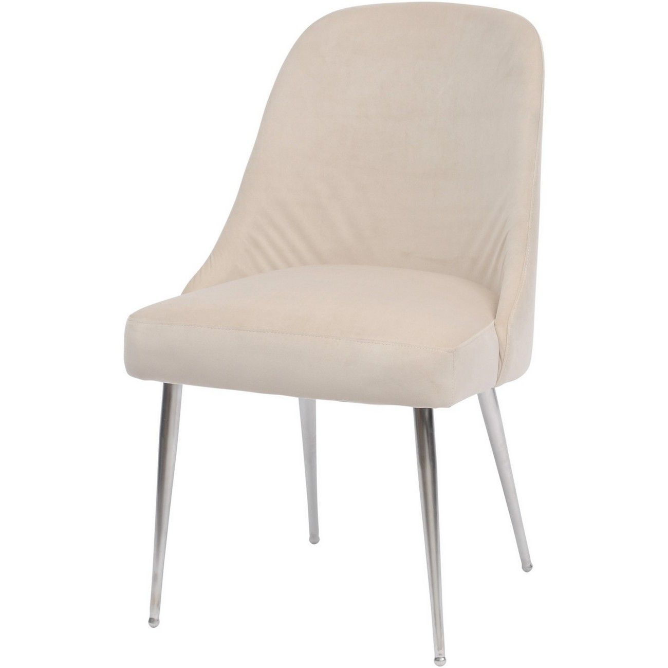 Bardolino Cream Velvet Dining Chair thumbnail