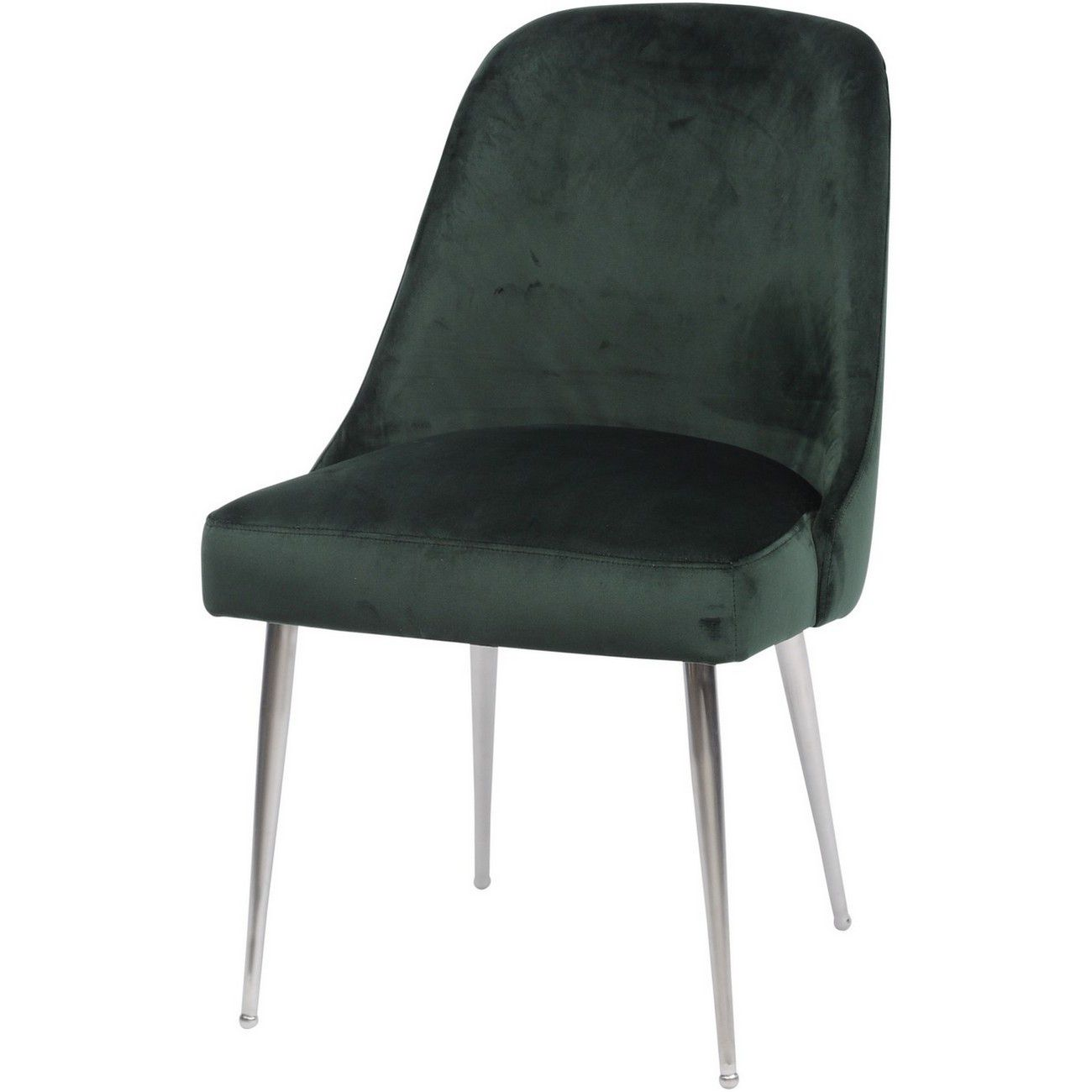 Bardolino Green Velvet Dining Chair thumbnail