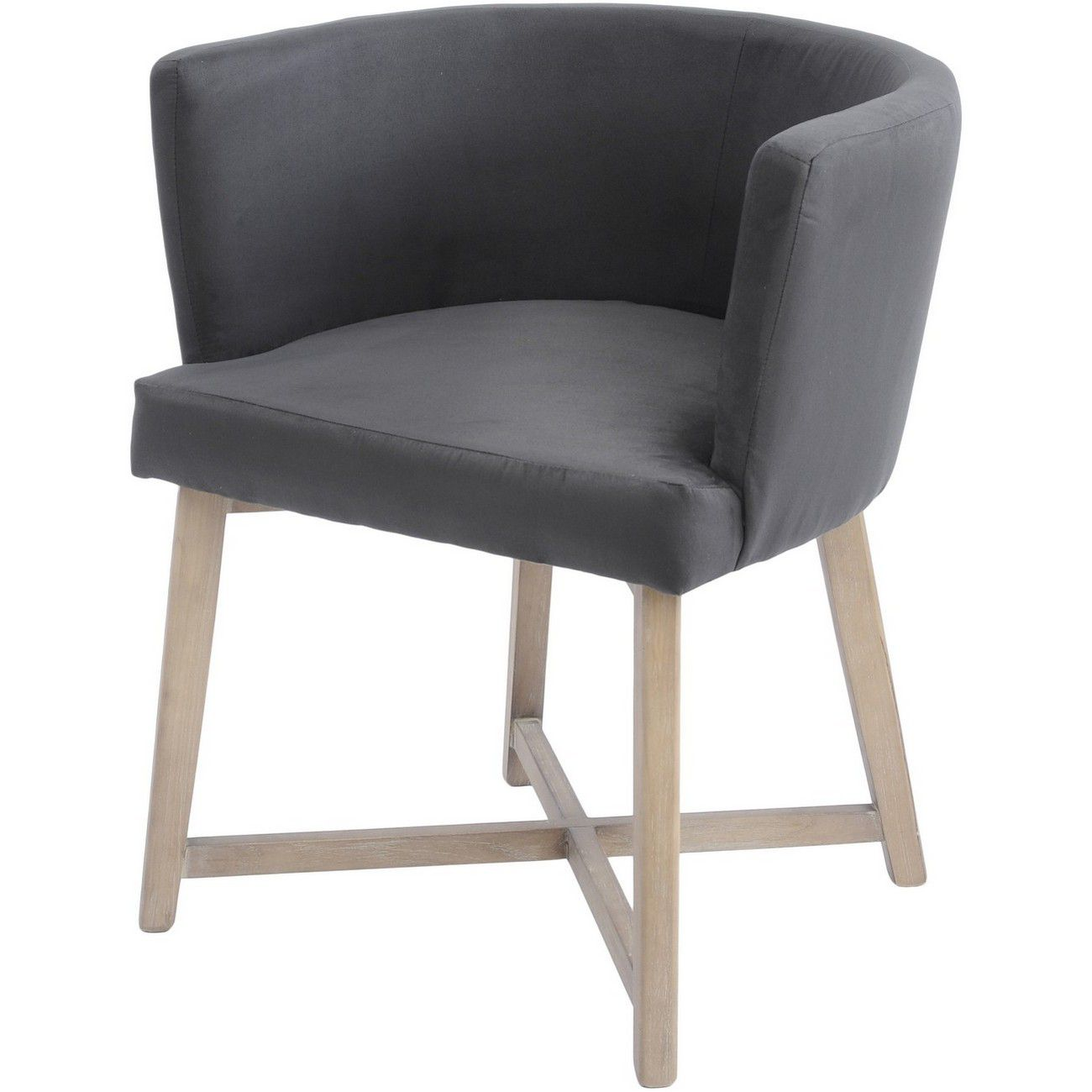Brooklyn Botanical Dark Grey Velvet Dining Chair thumbnail