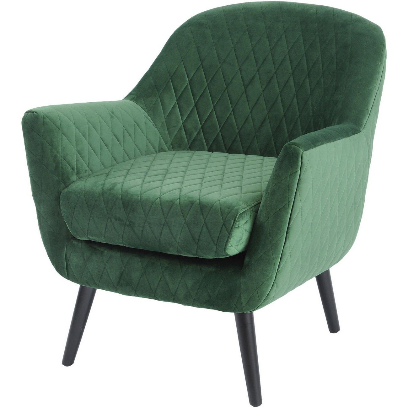 Ellison Green Velvet Quilted Occasional Chair thumbnail