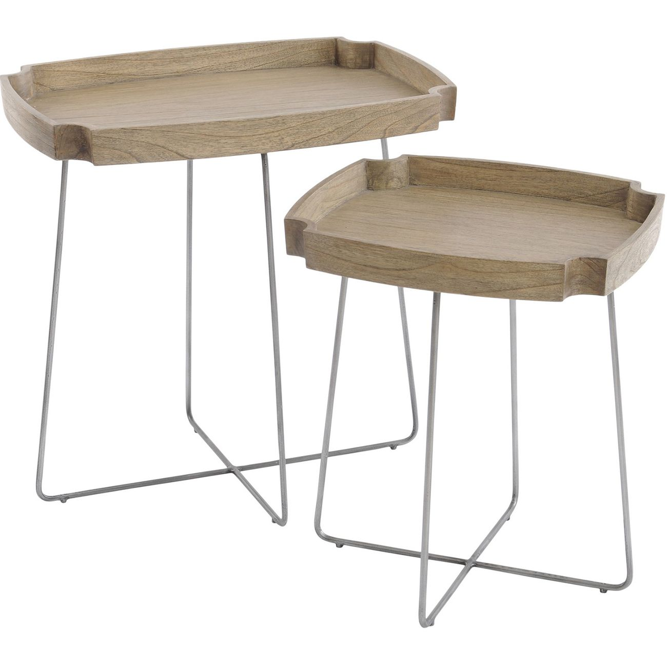 Castille Mindi Wood Set Of Two Nesting Tables thumbnail