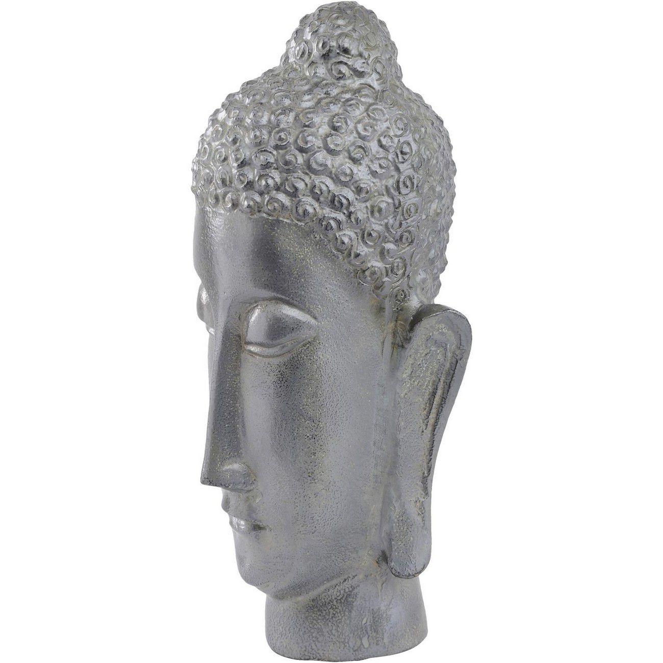 Antique Moss Buddha Head Sculpture thumbnail