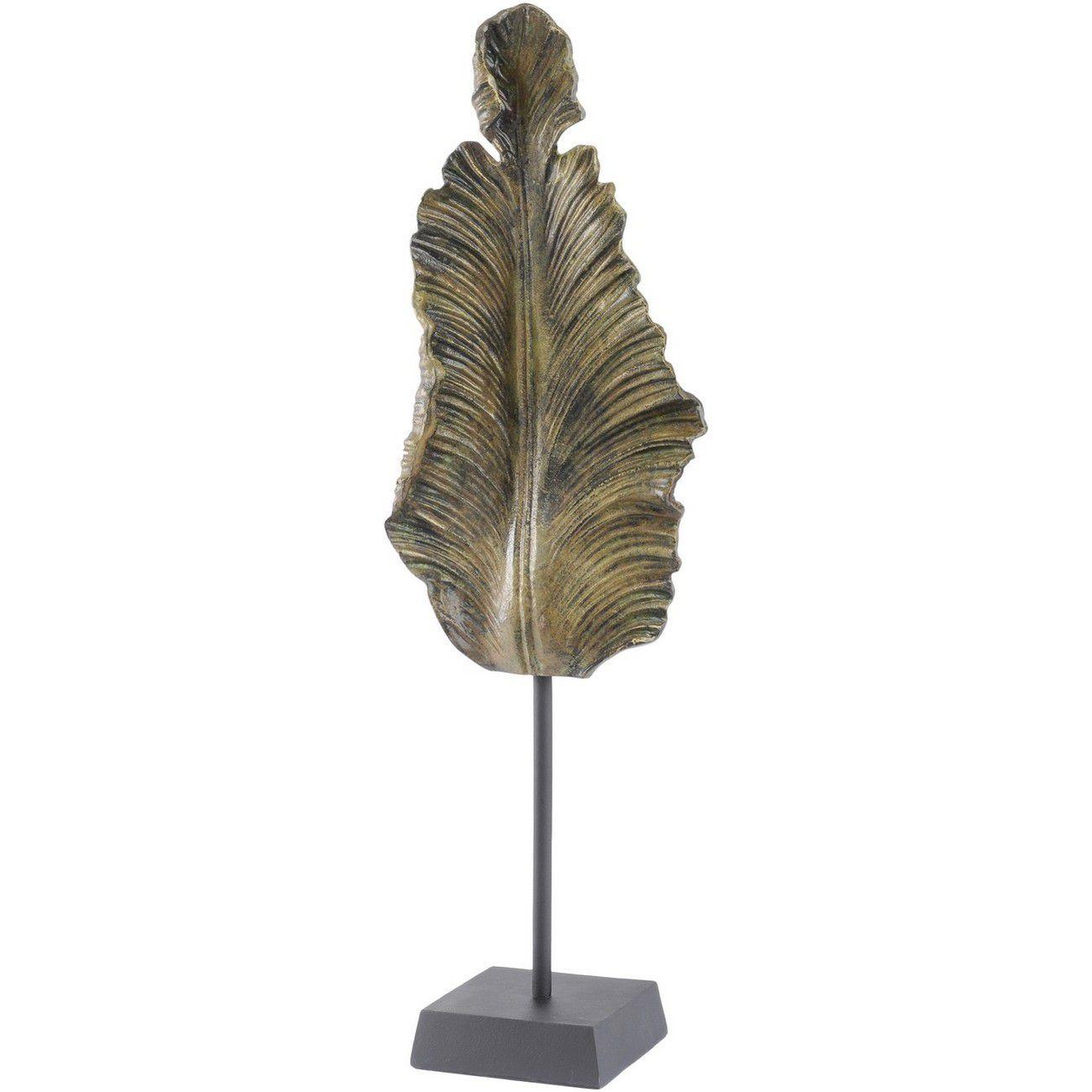 Antique Green Leaf Sculpture thumbnail