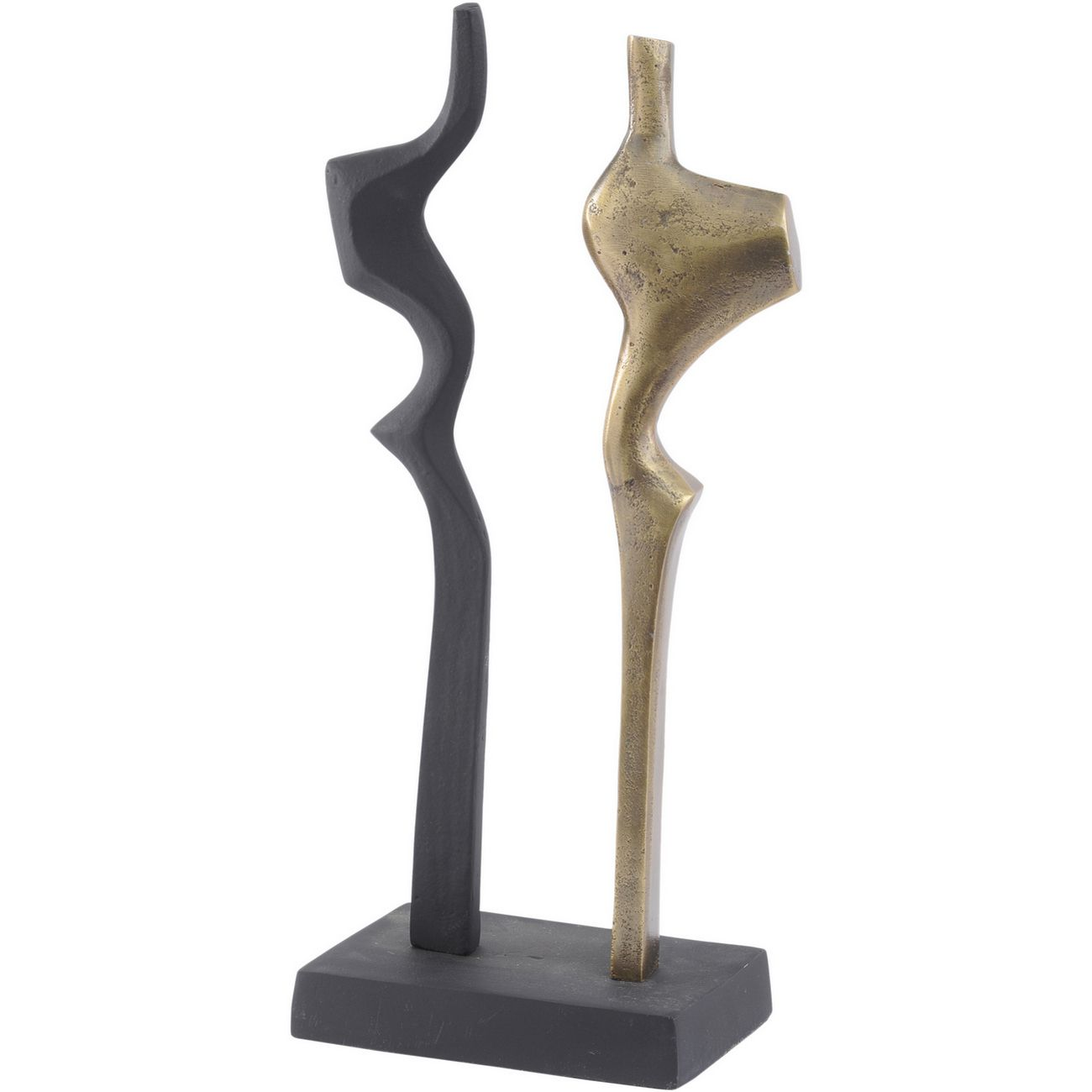 Antique Brass And Black Abstract Sculpture thumbnail