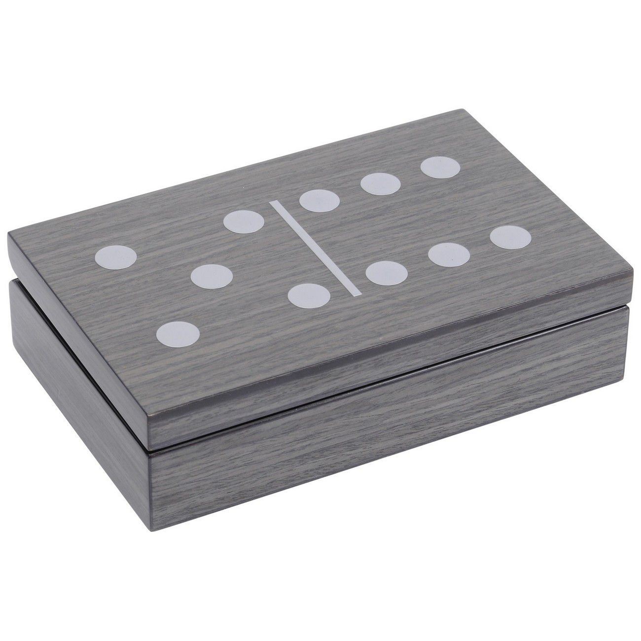 Lismore Grey Gloss Dominoes Box thumbnail
