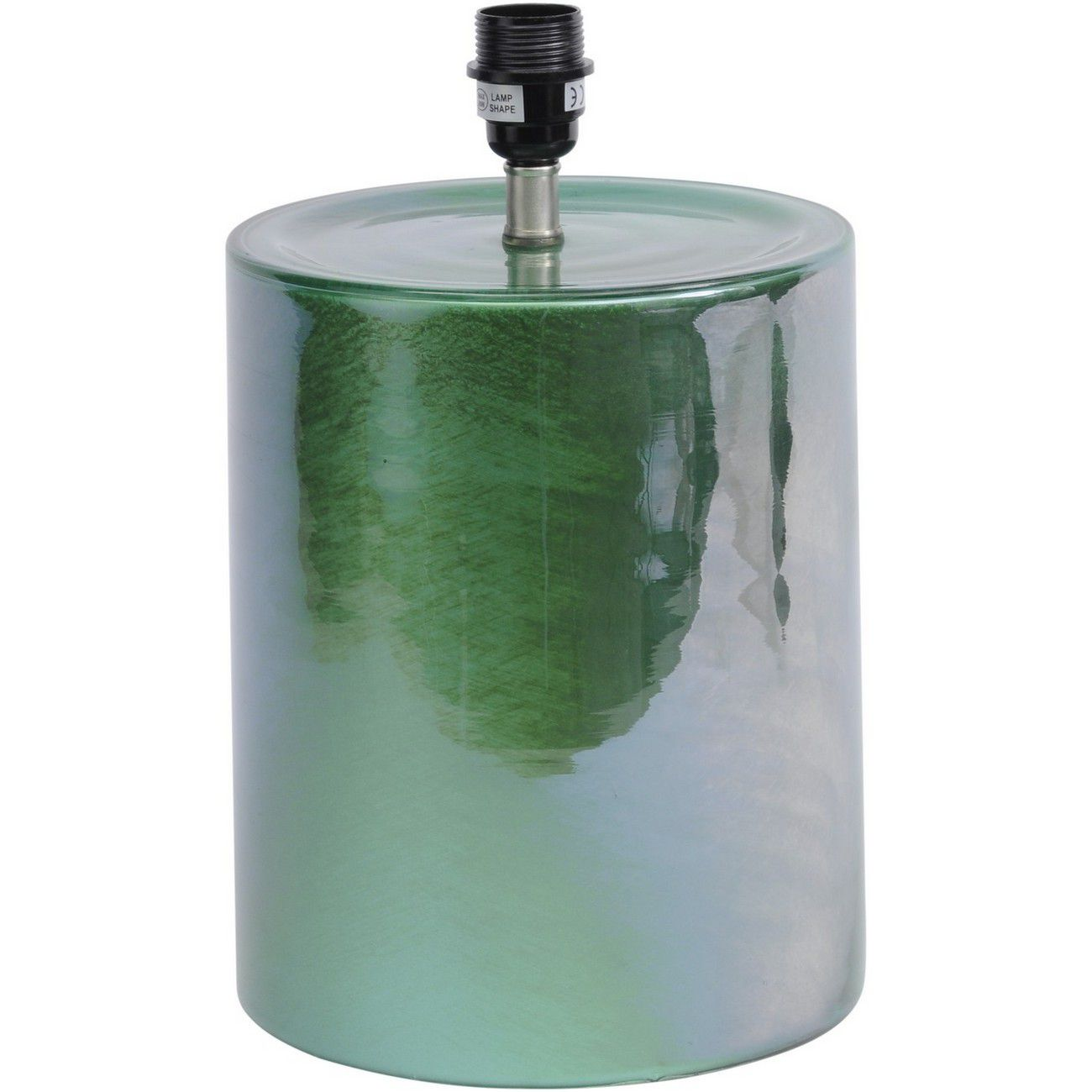 Green Cylindrical Table Lamp (Base Only) - E27 60W 16