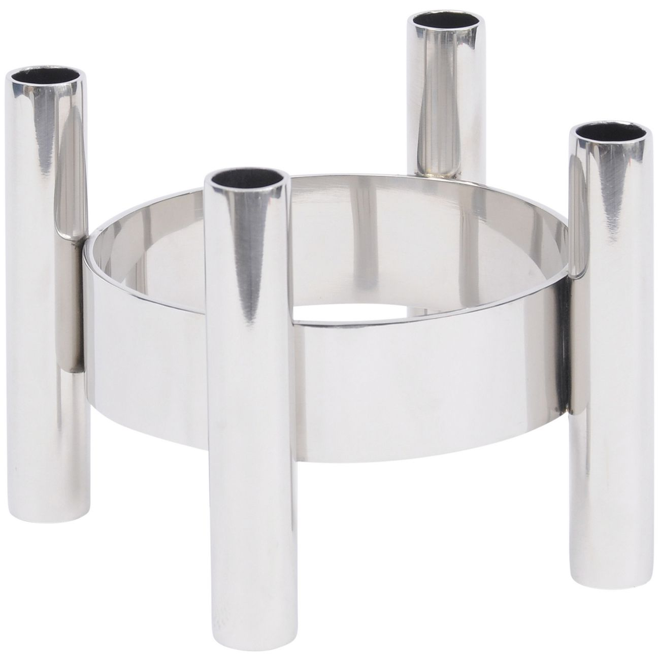 Alvar Small Nickel Circular Dinner Candle Holder thumbnail