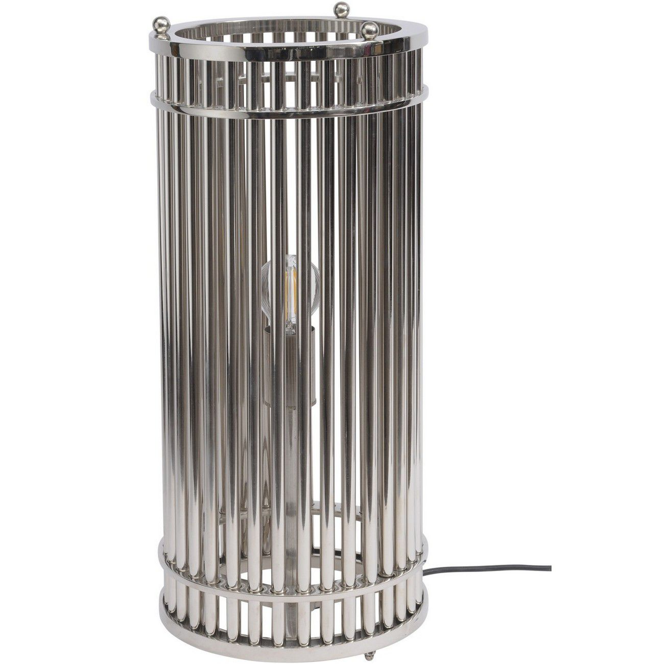Fluted Nickel Cylinder Table Lamp E27 60W thumbnail