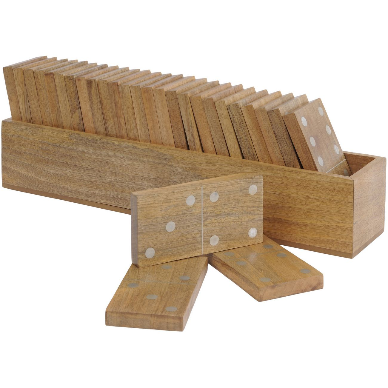 Manning Large Mango Wood Dominoes Set thumbnail